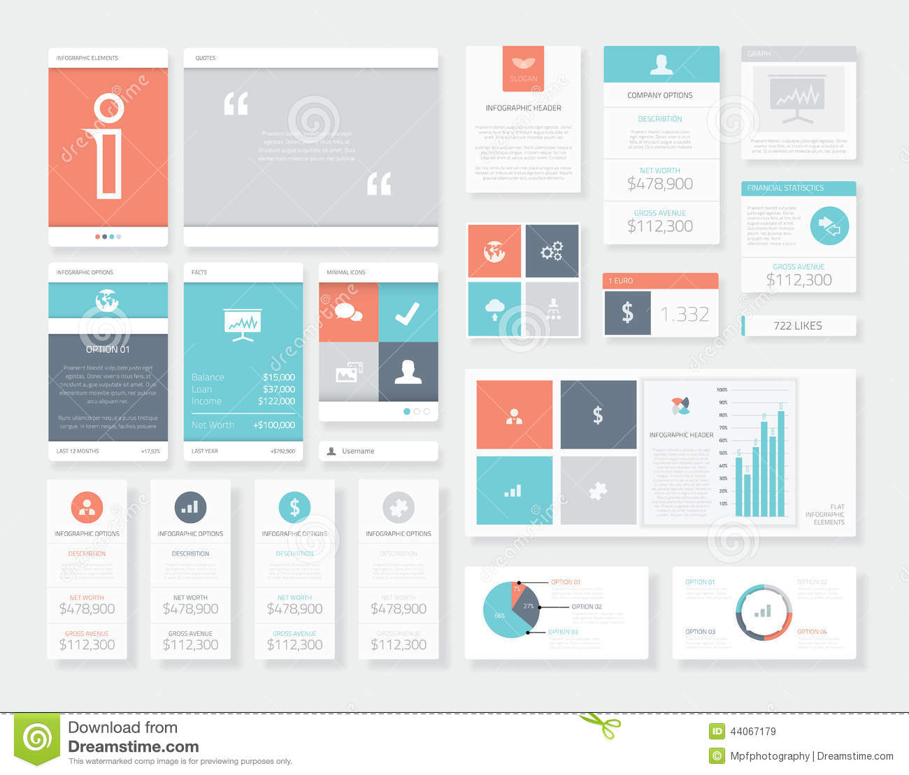 Clean And Fresh User Interface (ui) Infographics Vector ...