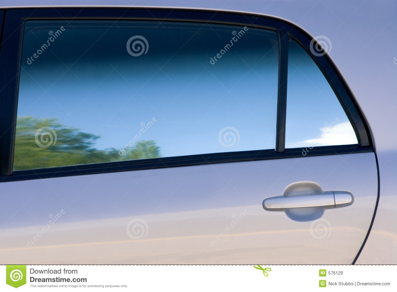 Clean lines and shades of a car door and window stock for The door and the window