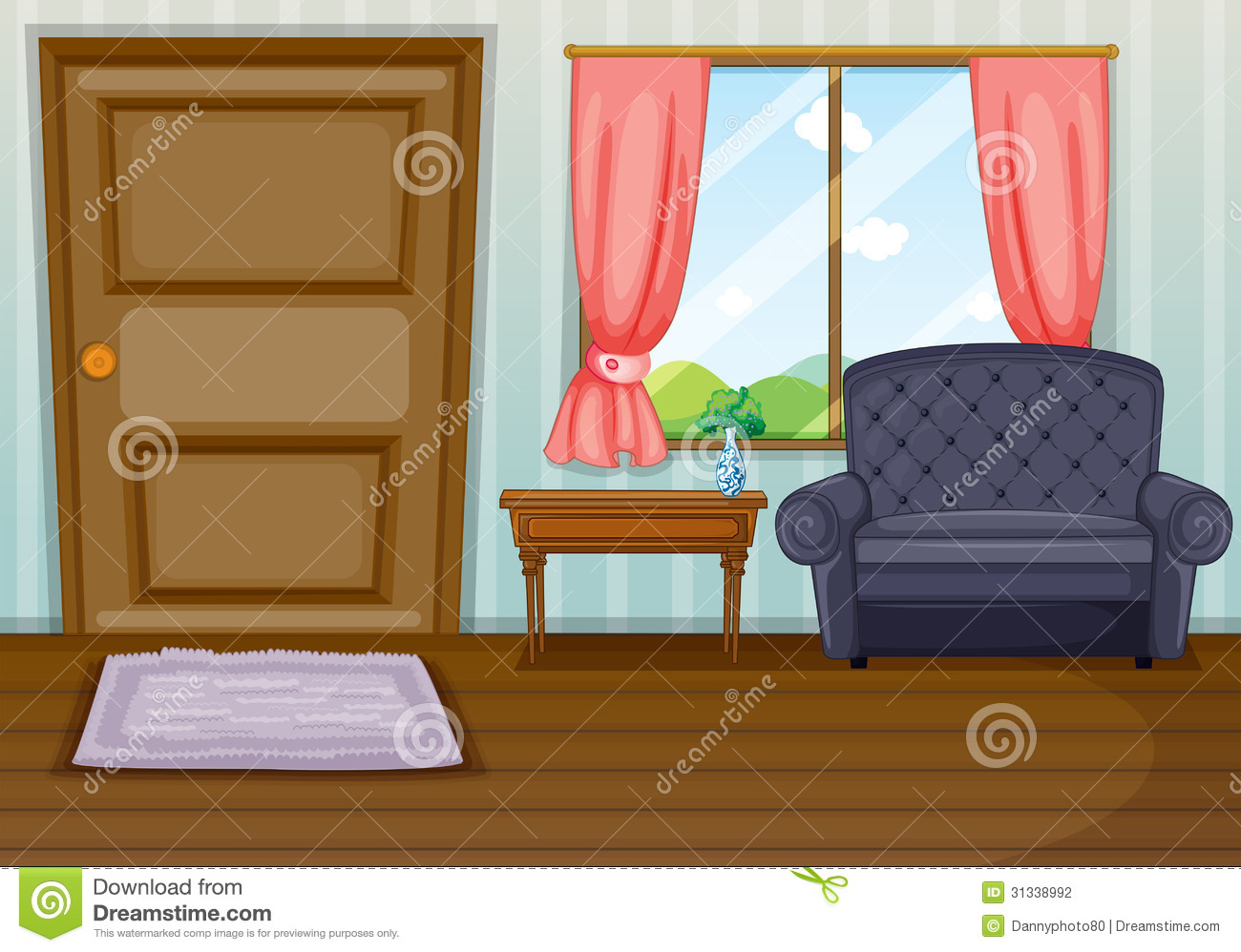 Stock photography a clean living room