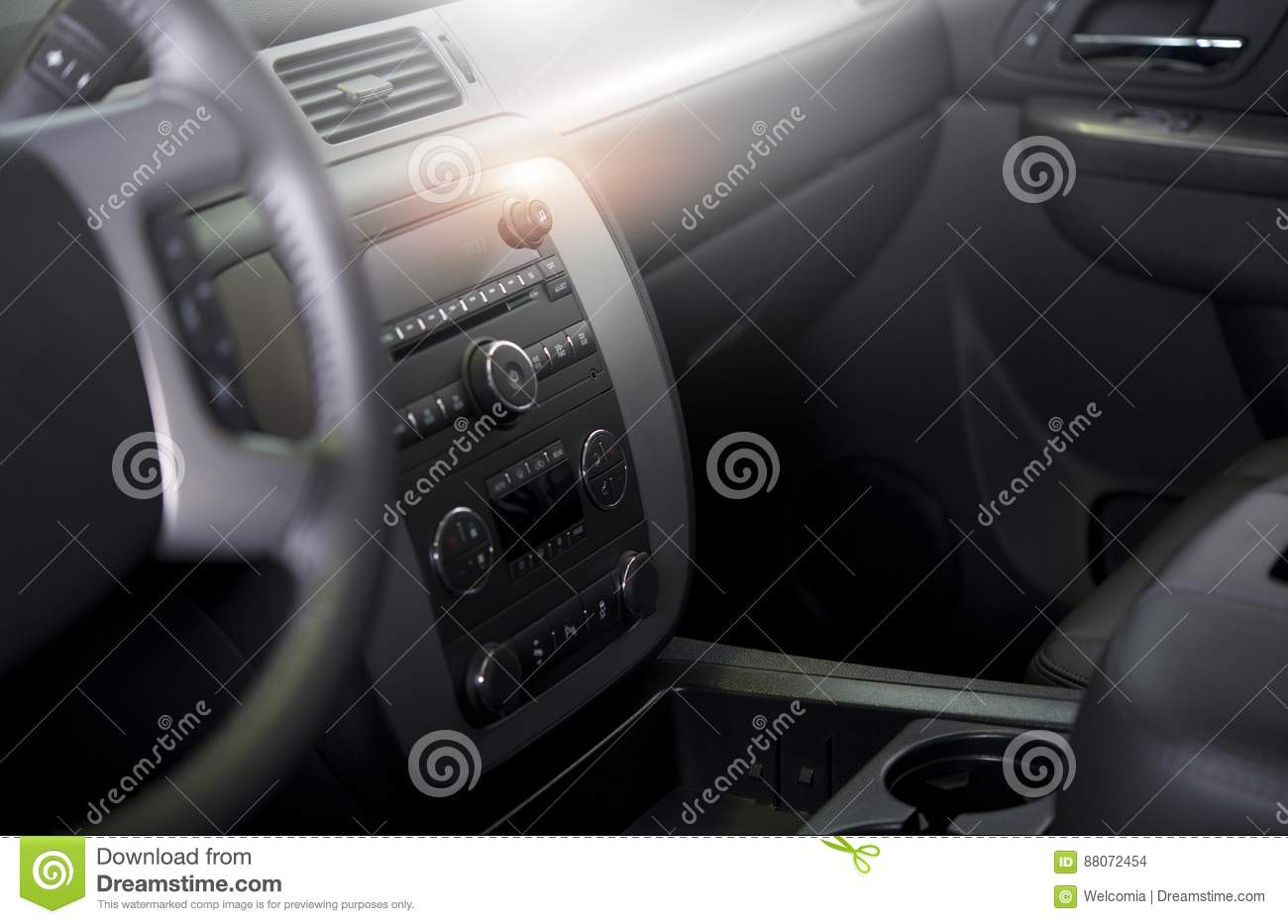 Download Clean Modern Car Interior Stock Photo. Image Of Inside   88072454