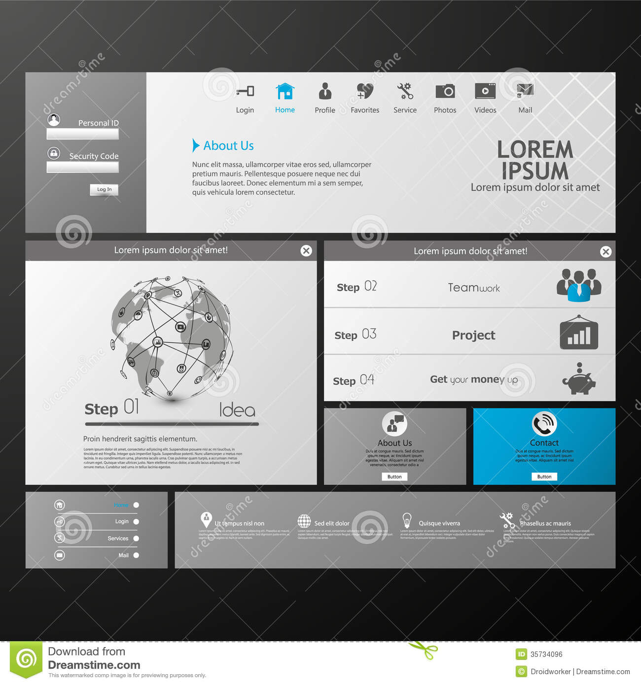 Clean Modern Website Template Royalty Free Stock Image - Image ...