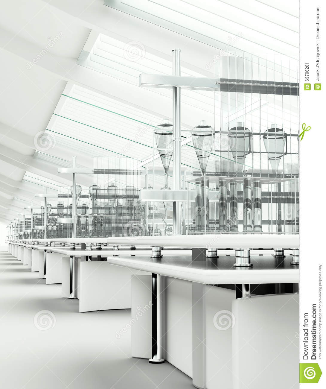 Clean modern white laboratory interior stock image image for Research interior decoration and design influences