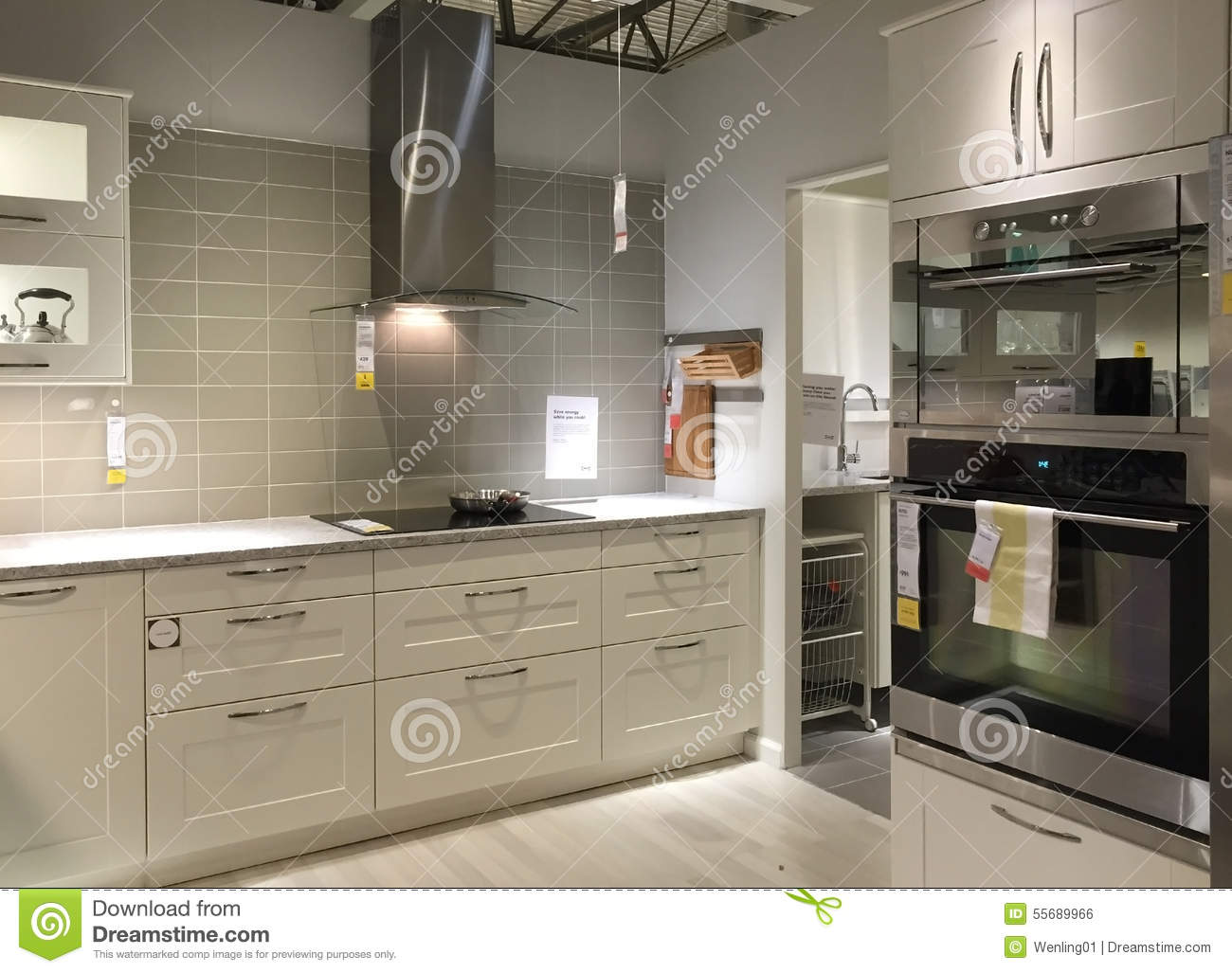 Clean And Neat Modern Kitchen Background Editorial Photo Image 55689966