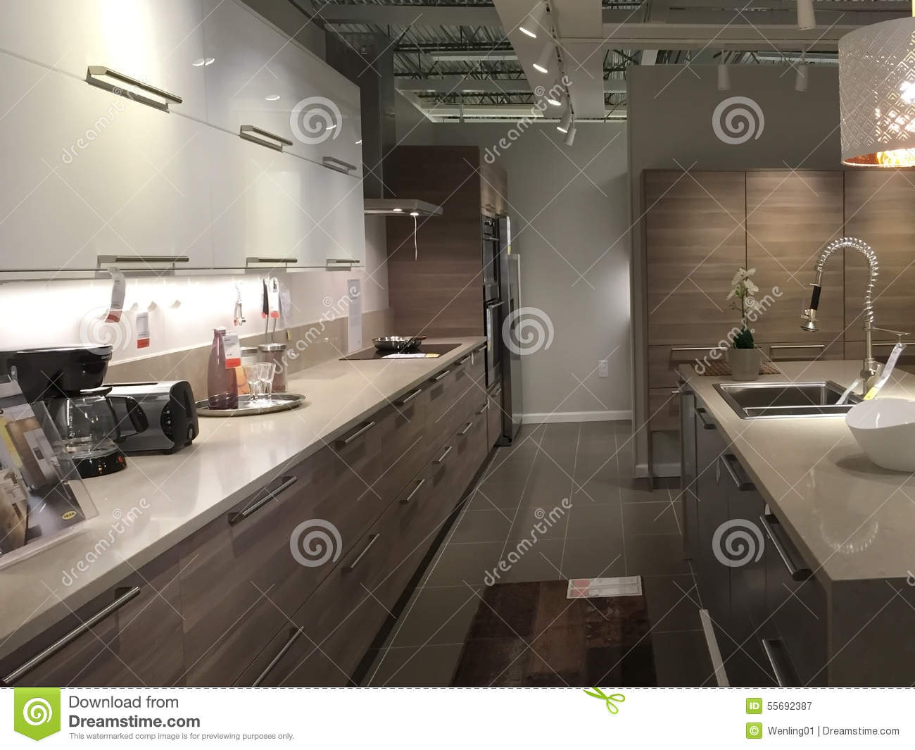 Clean And Neat Modern Kitchen Royalty Free Stock Photography