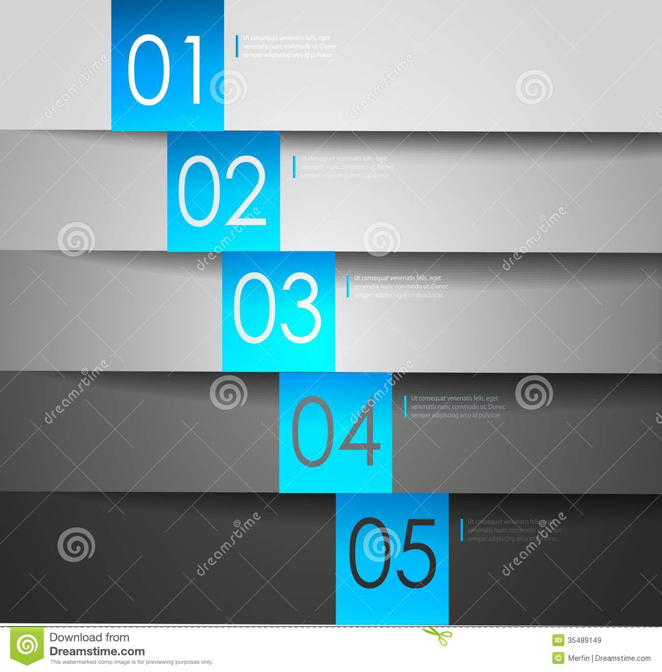 Clean numbered banners for sample text vector design - Text banner design ...