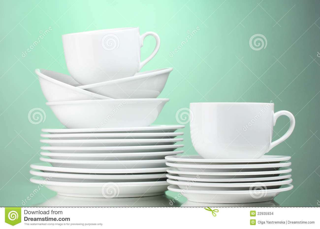 Clean Plates Cups Stock Images Image 22935934