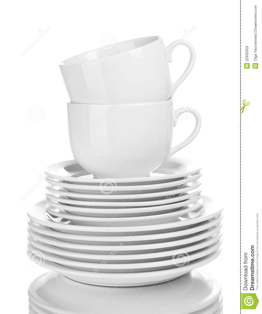 Clean Plates And Cups Royalty Free Stock Images Image