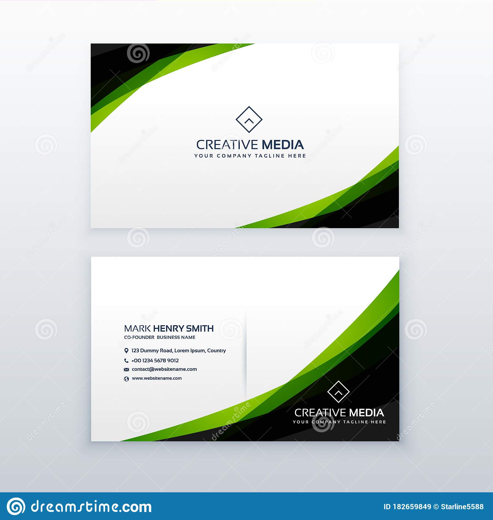 Business Card Design Template from thumbs.dreamstime.com