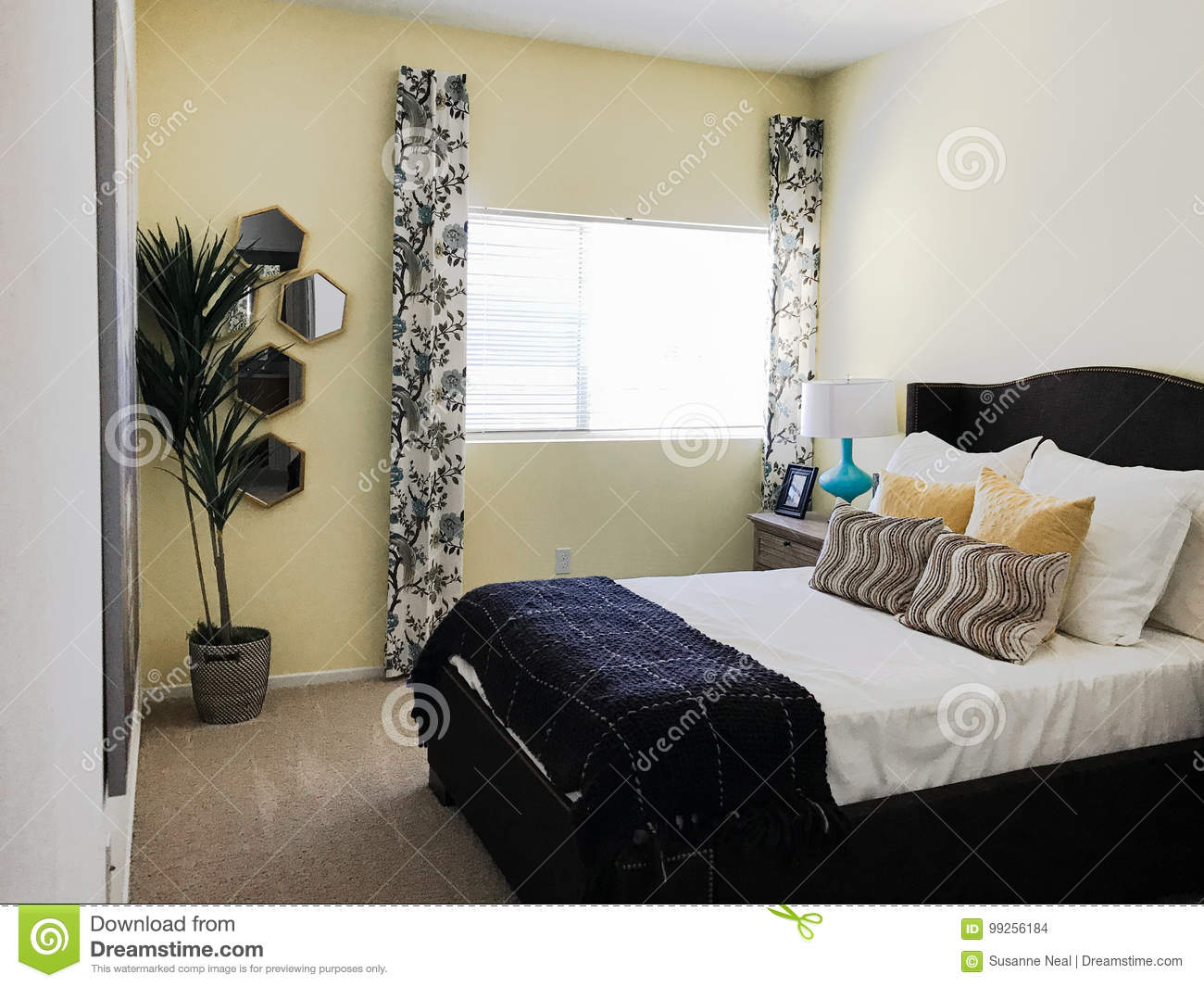 Clean Simple Small Bedroom Stock Photo Image Of Pretty 99256184