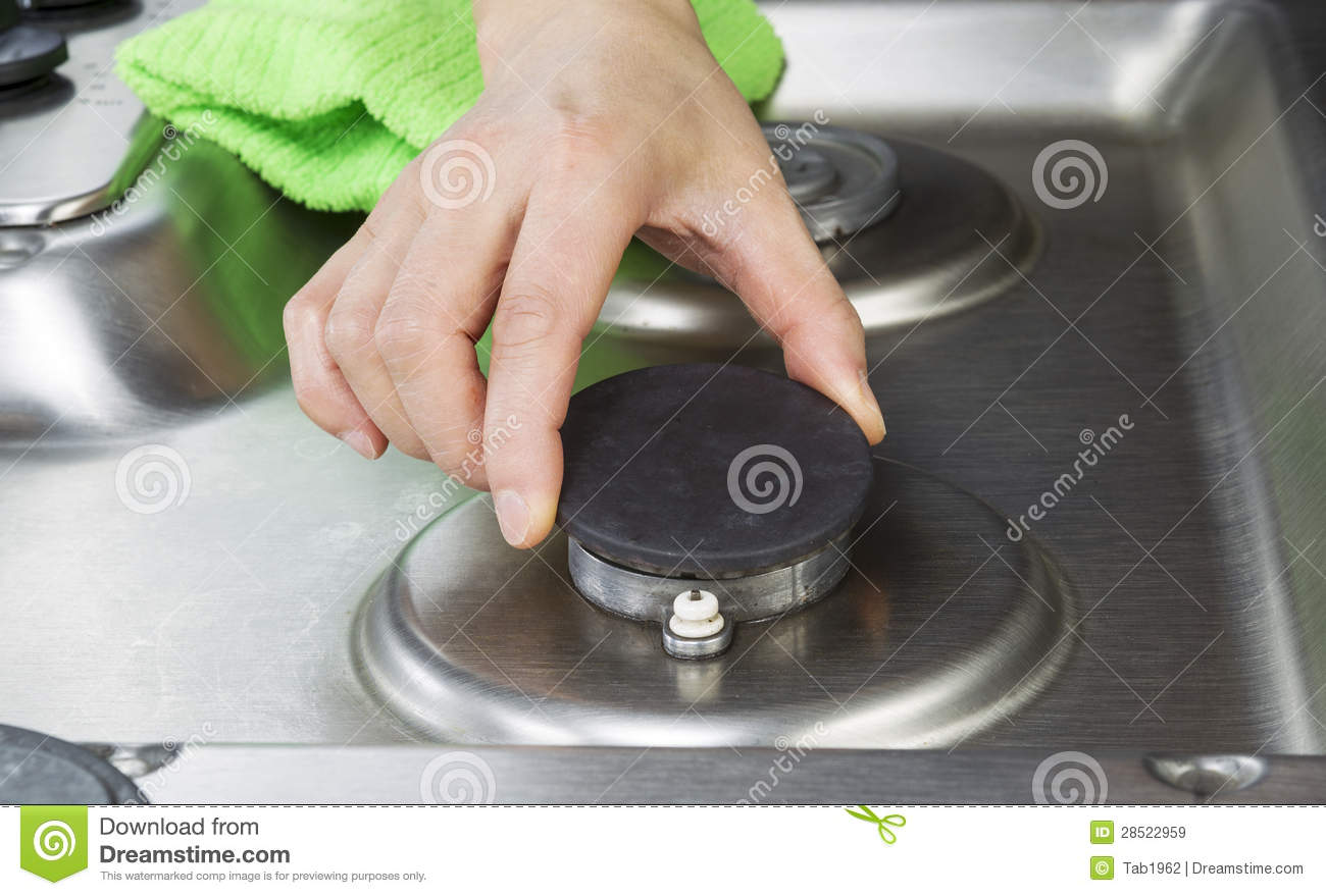 gas stove burner cover. Clean Stove Top Burner Being Maintain Stock Image - Of Cook, Home: 28522959 Gas Cover A