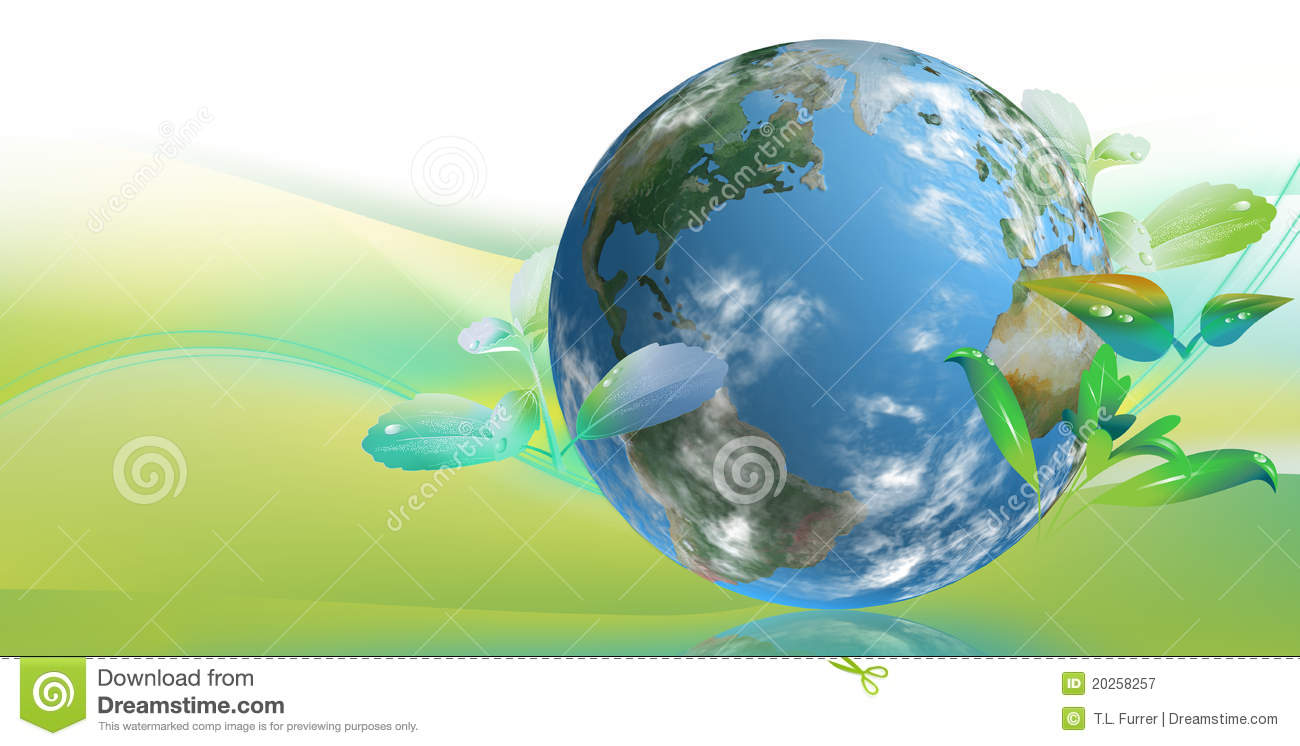 clean tech world royalty free stock photography