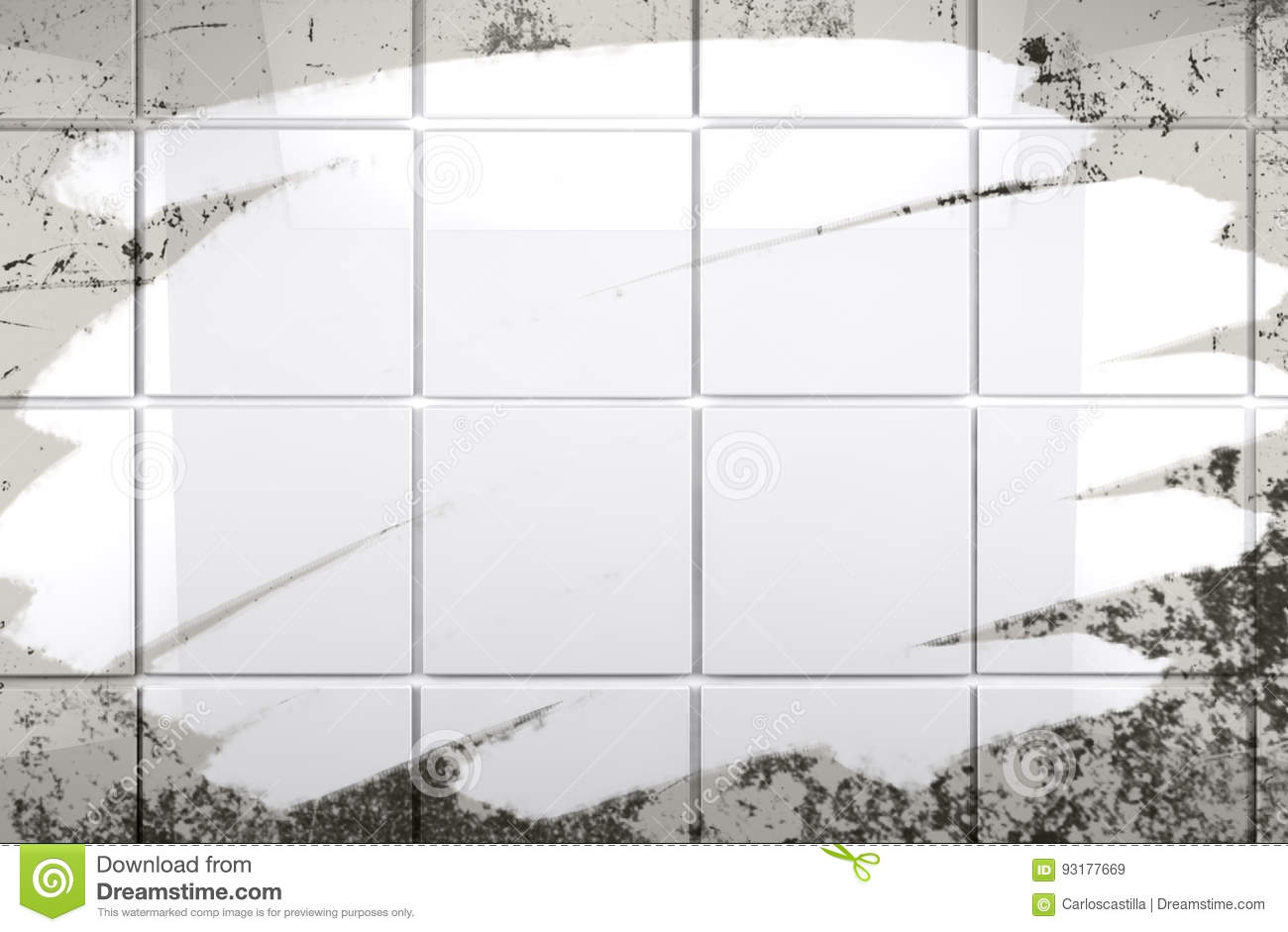 Clean Tile Wall Bathroom Background Stock Illustration ...