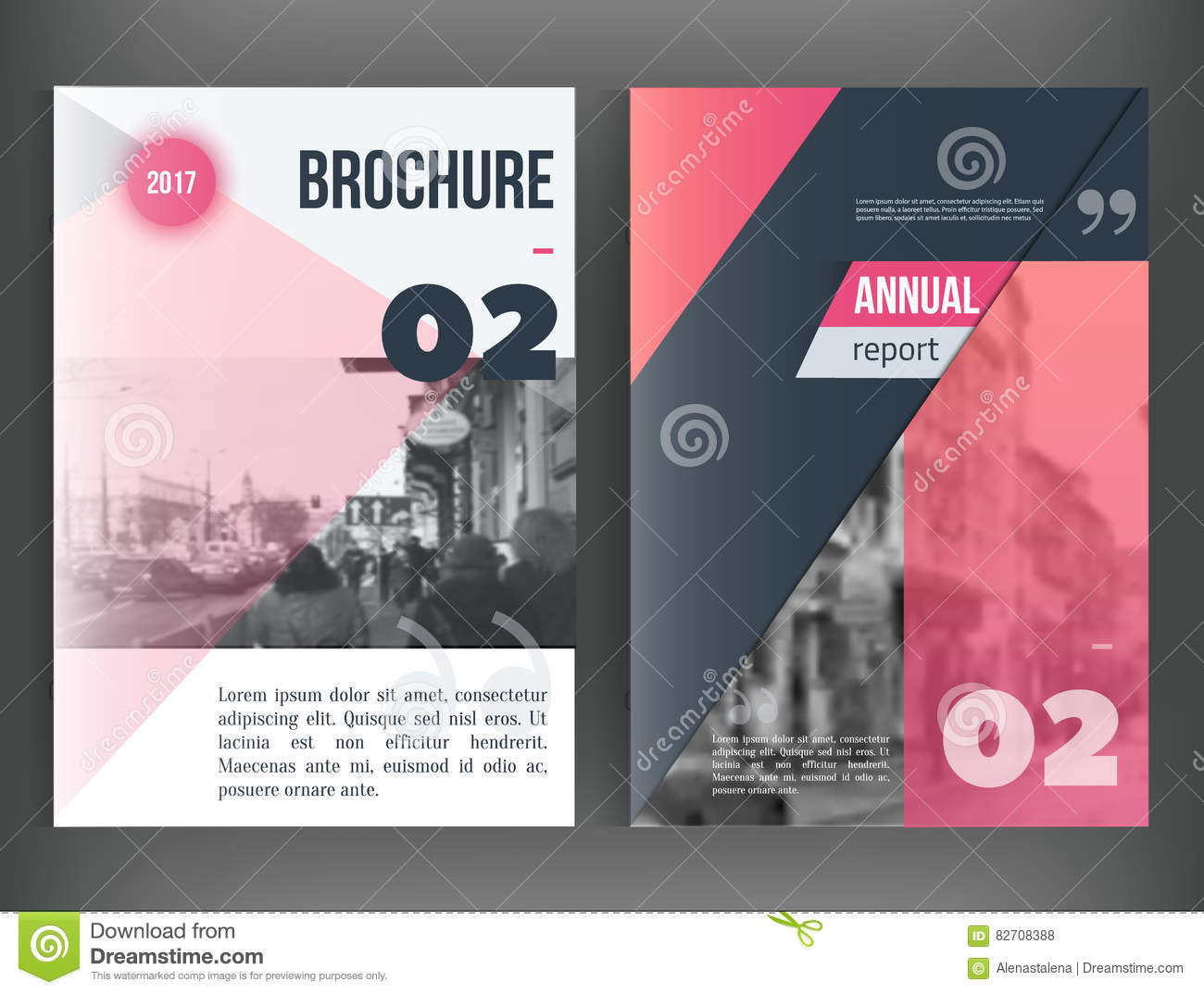 Clean Vector annual report. Brochure template, book cover layout design, Abstract triangle red presentation templates