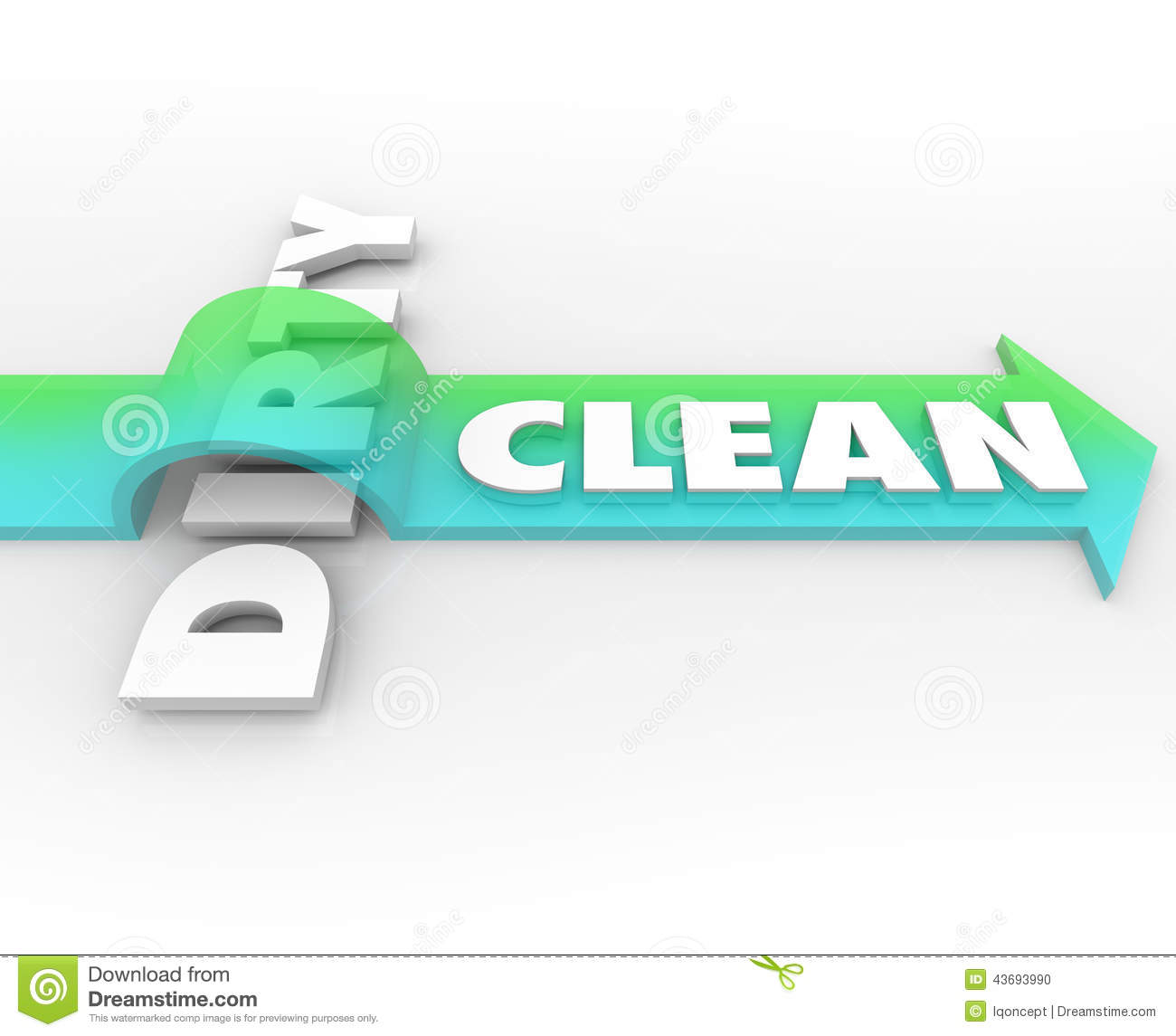Clean Wholesome: Clean Vs Dirty Arrow Over Word Cleanliness Wins Stay Safe