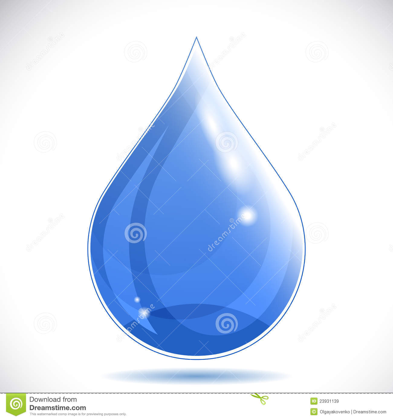Clean Water Drop On White Background Stock Vector - Image ...