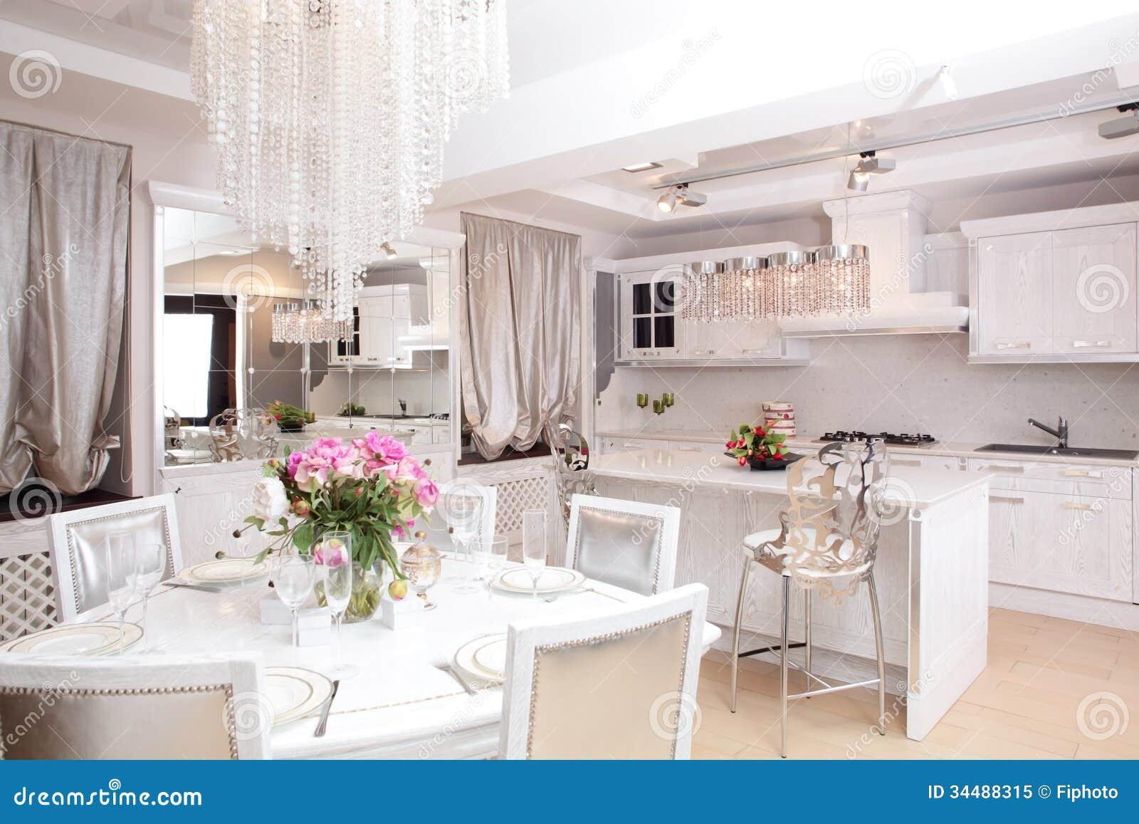 Clean White European Kitchen Stock Image Image 34488315