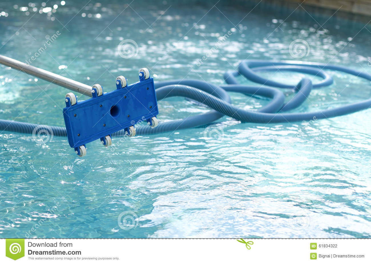 Cleaner Equipment For Cleaning Swimming Pool Stock Photo Image Of Season Pool 61834322
