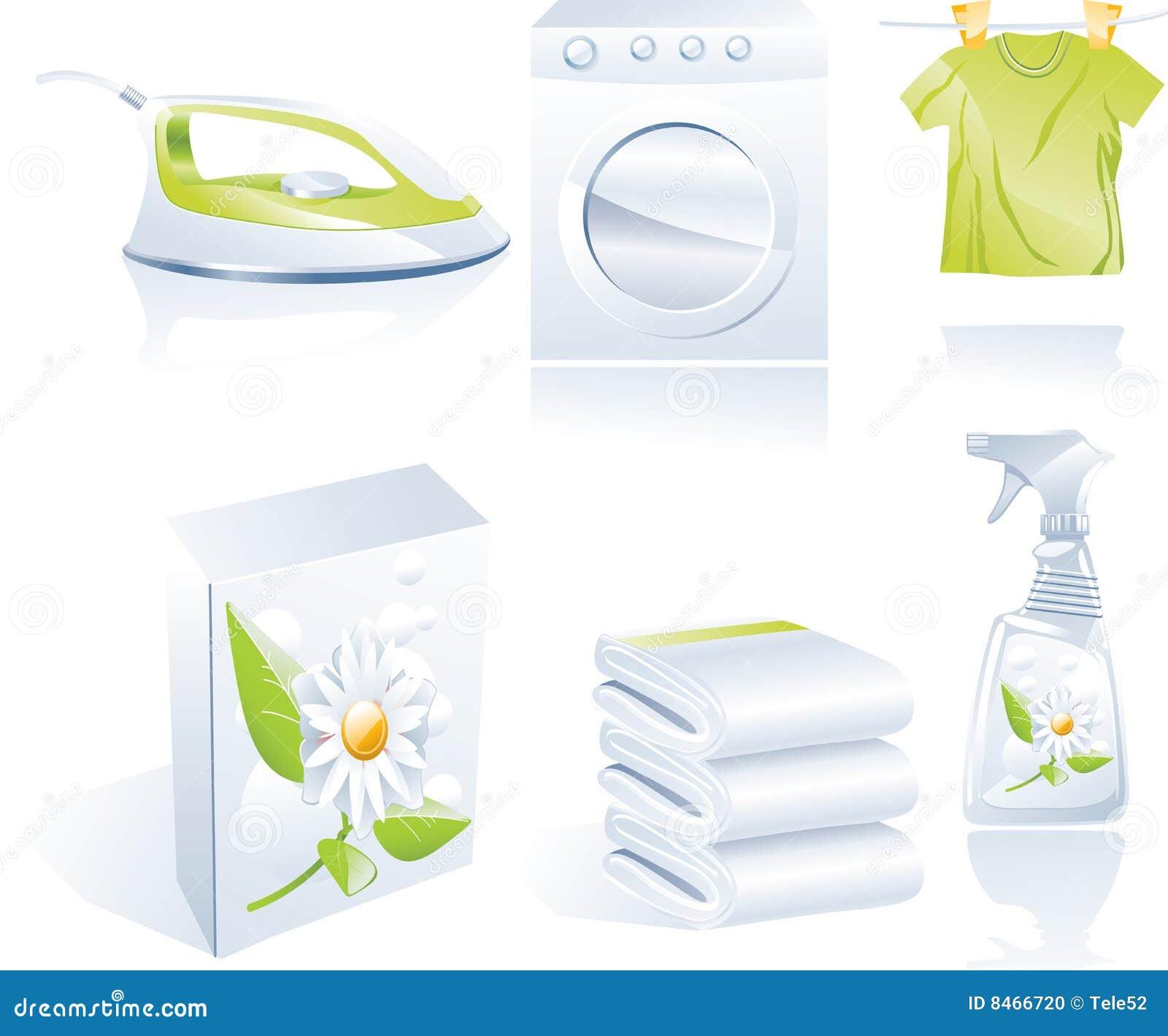 Cleaner suchy ikony s setu wektor