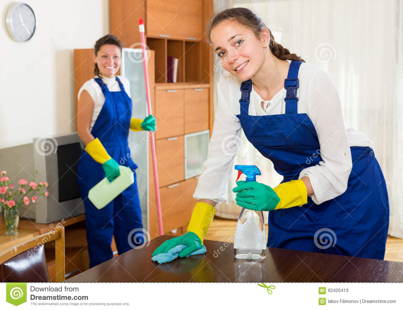 cleaners cleaning in room stock image  image of cleaner