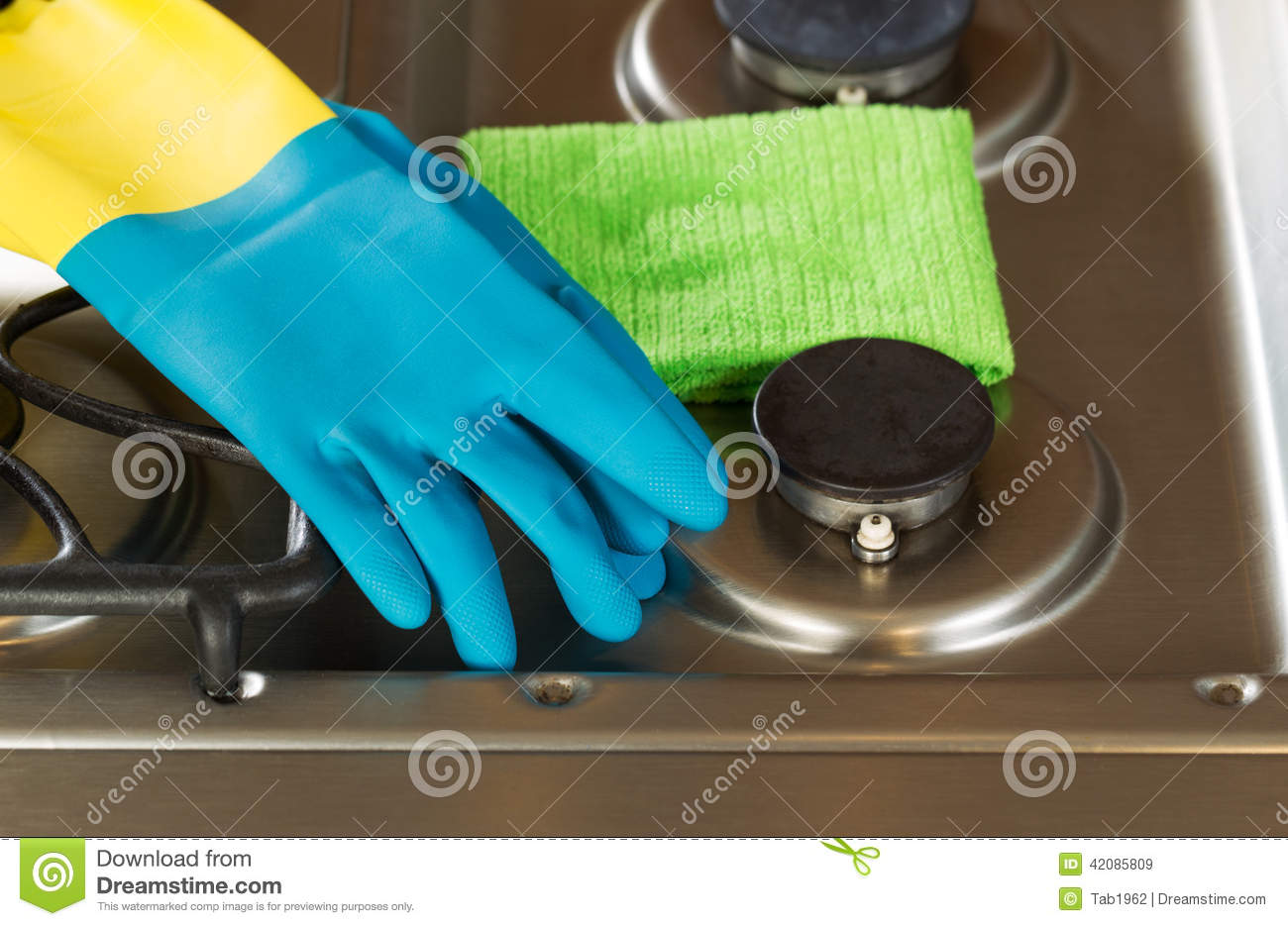Cleaning Accessories On Top Of Stove Top Range Stock Photo - Image ...