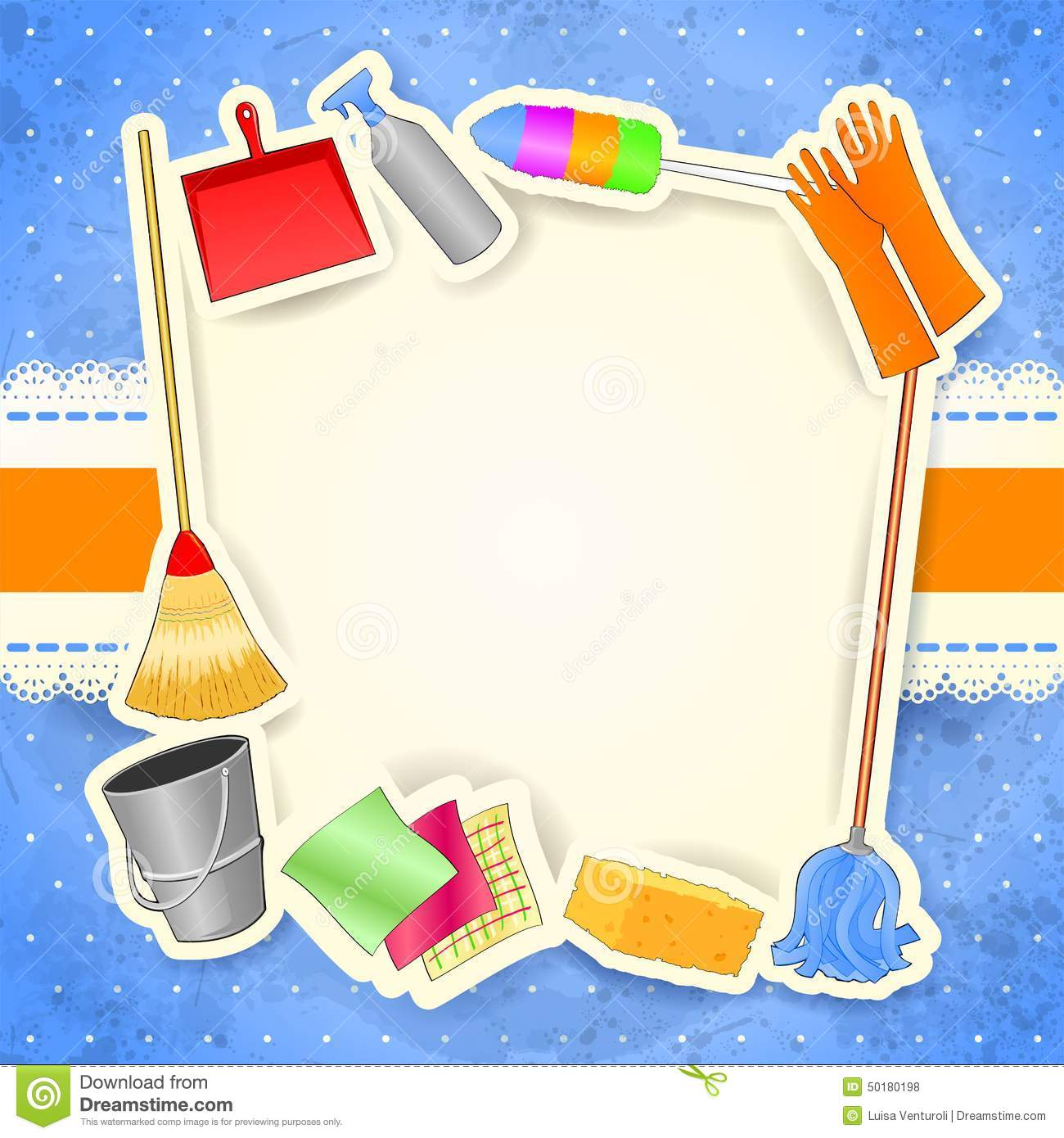 Cleaning Background With Copy Space Stock Vector Image