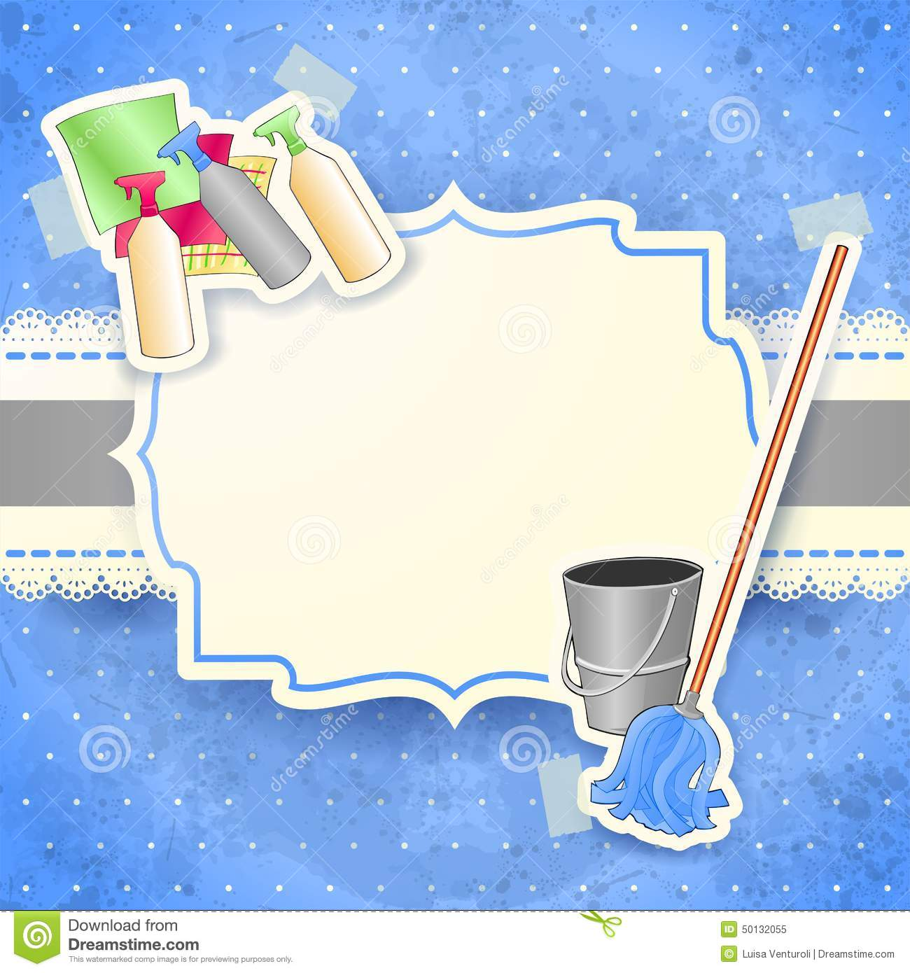 Cleaning Background With Label Stock Vector Image 50132055