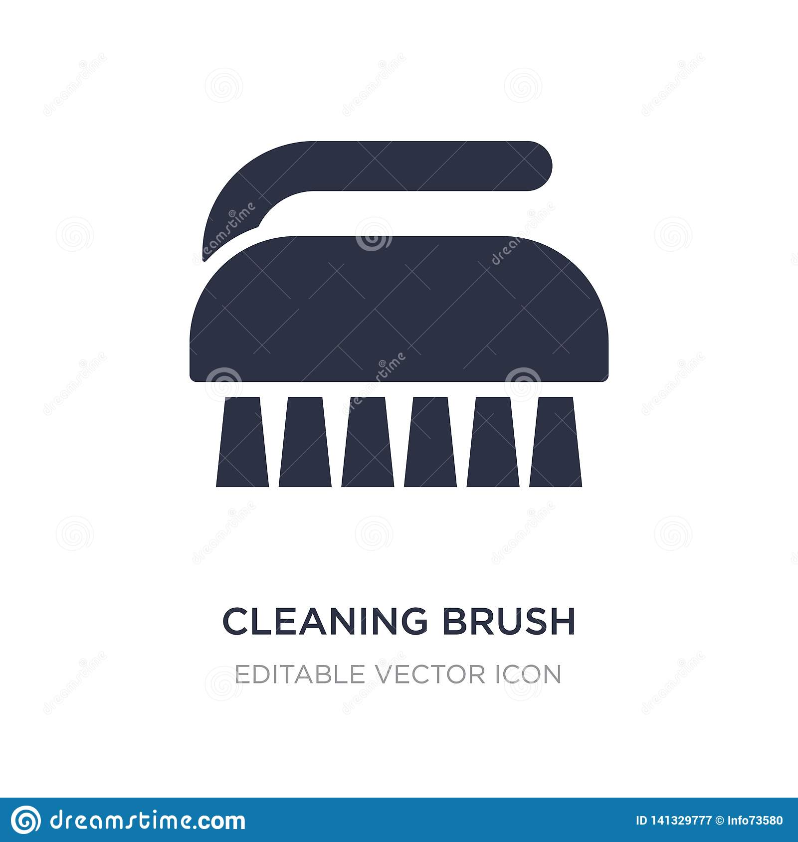 cleaning brush icon on white background. Simple element illustration from Miscellaneous concept