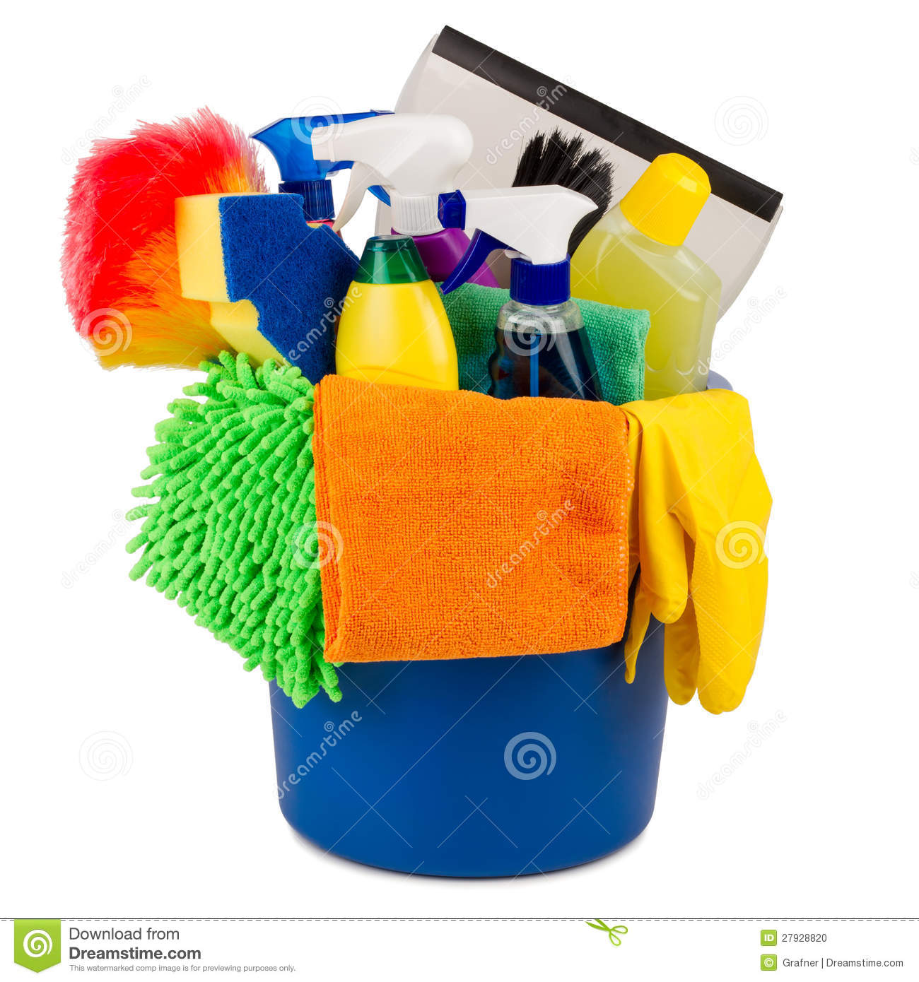 Cleaning Kitchen Utensils: Cleaning Bucket Stock Photo. Image Of Dusters, Spray