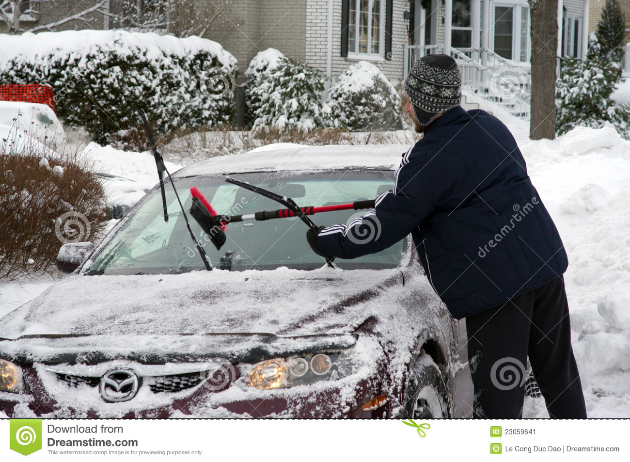 how to clean windshield in winter