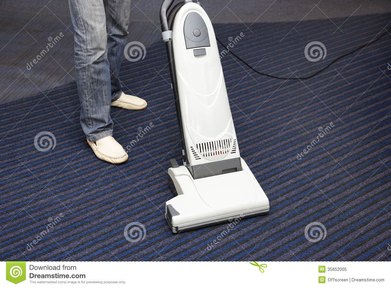 cleaning the carpet vacuum cleaner royalty free stock