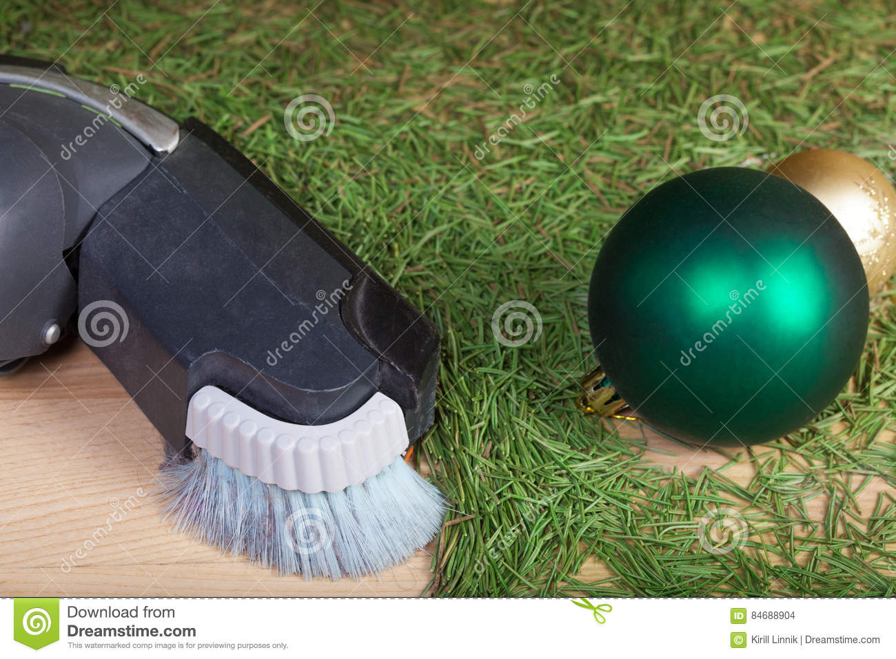 Download Cleaning After The Christmas Party Stock Photo - Image of background, pine: 84688904