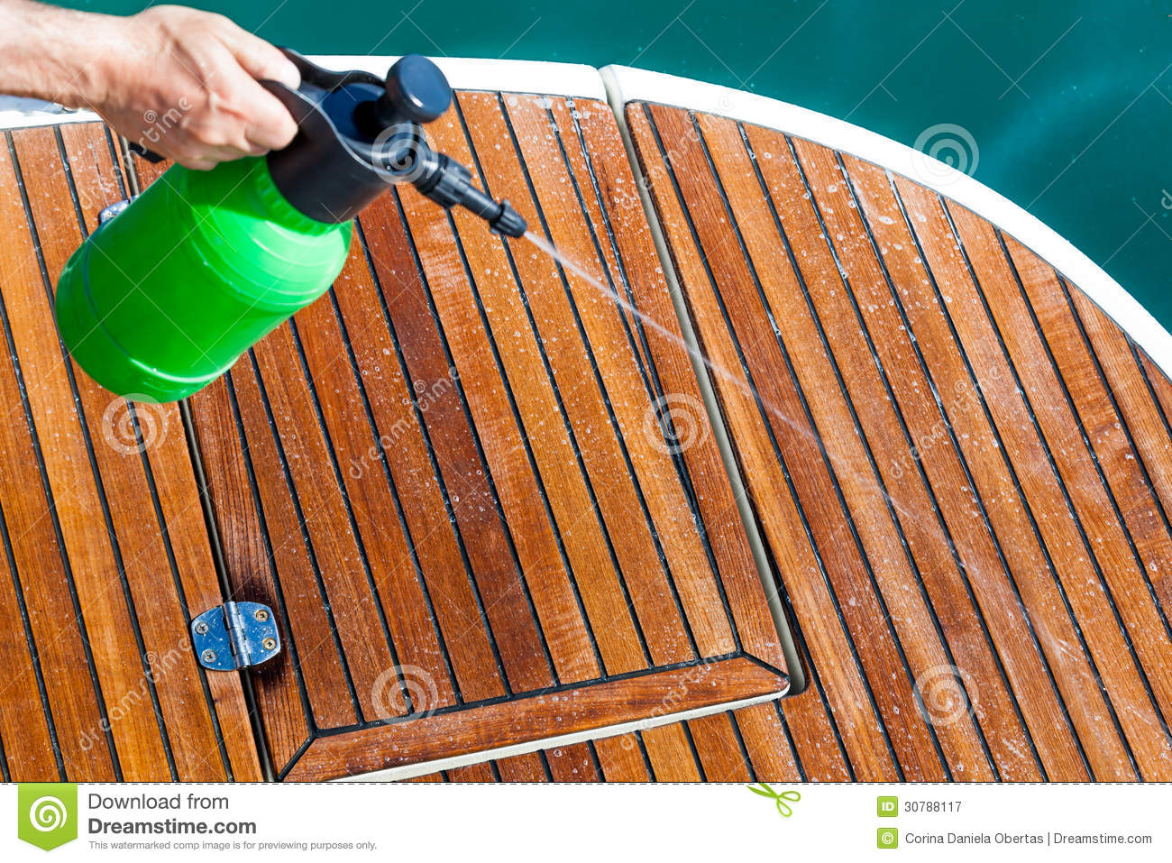 Cleaning deck royalty free stock photography image 30788117 for Patio cleaning solution