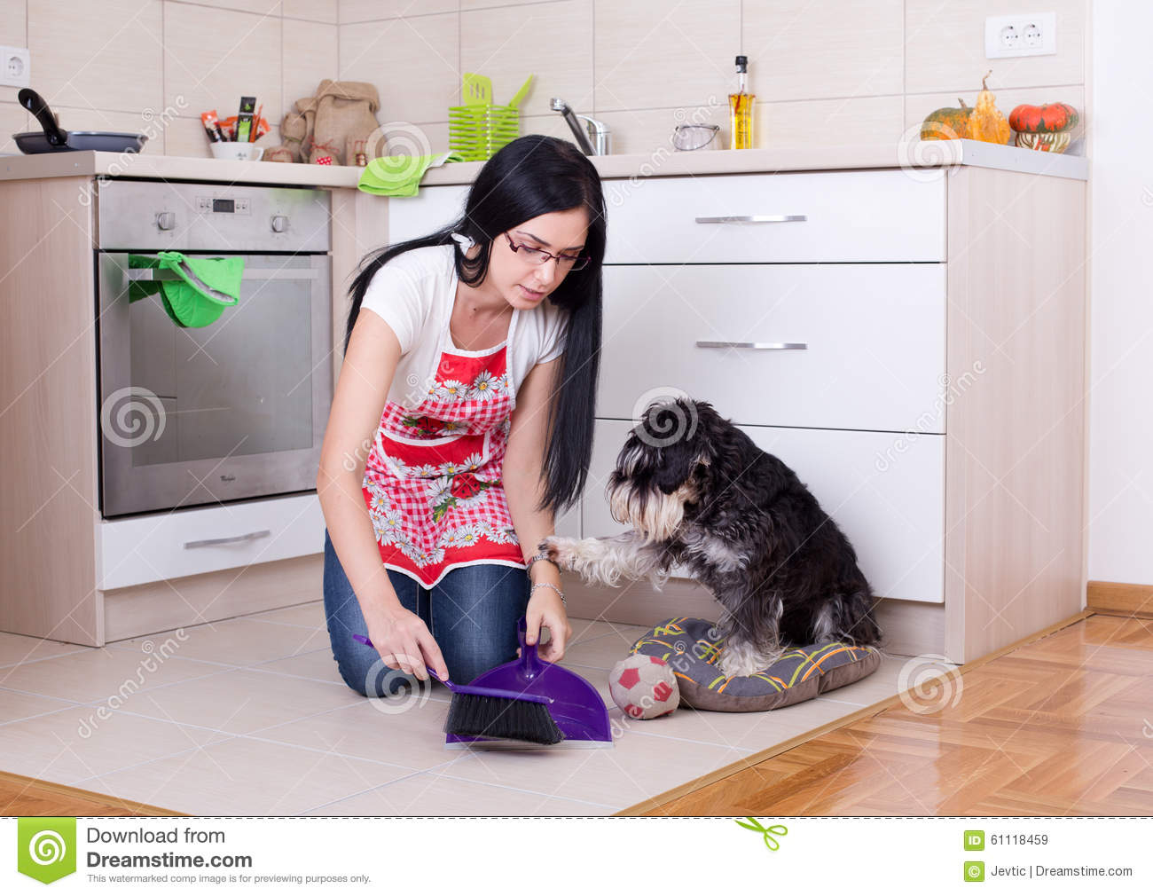 how to keep a dog clean in the house