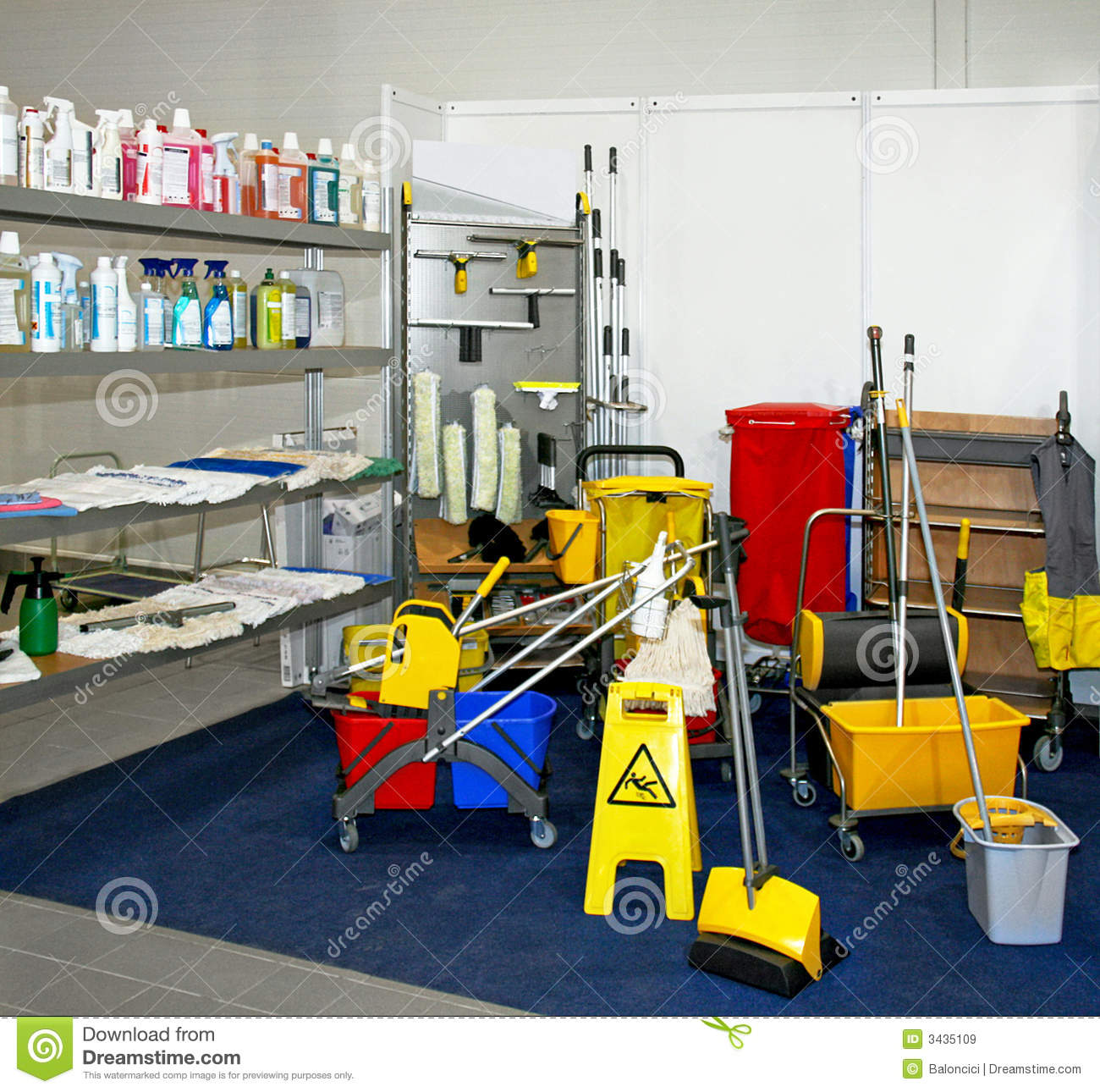 Cleaning Equipment Royalty Free Stock Images Image 3435109