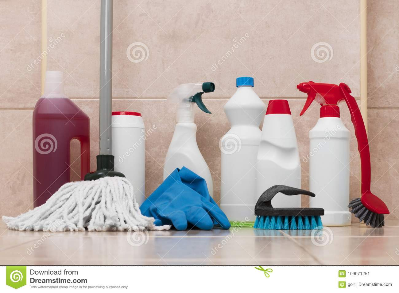 Cleaning Products Stock Image Image Of Housework Glove 109071251