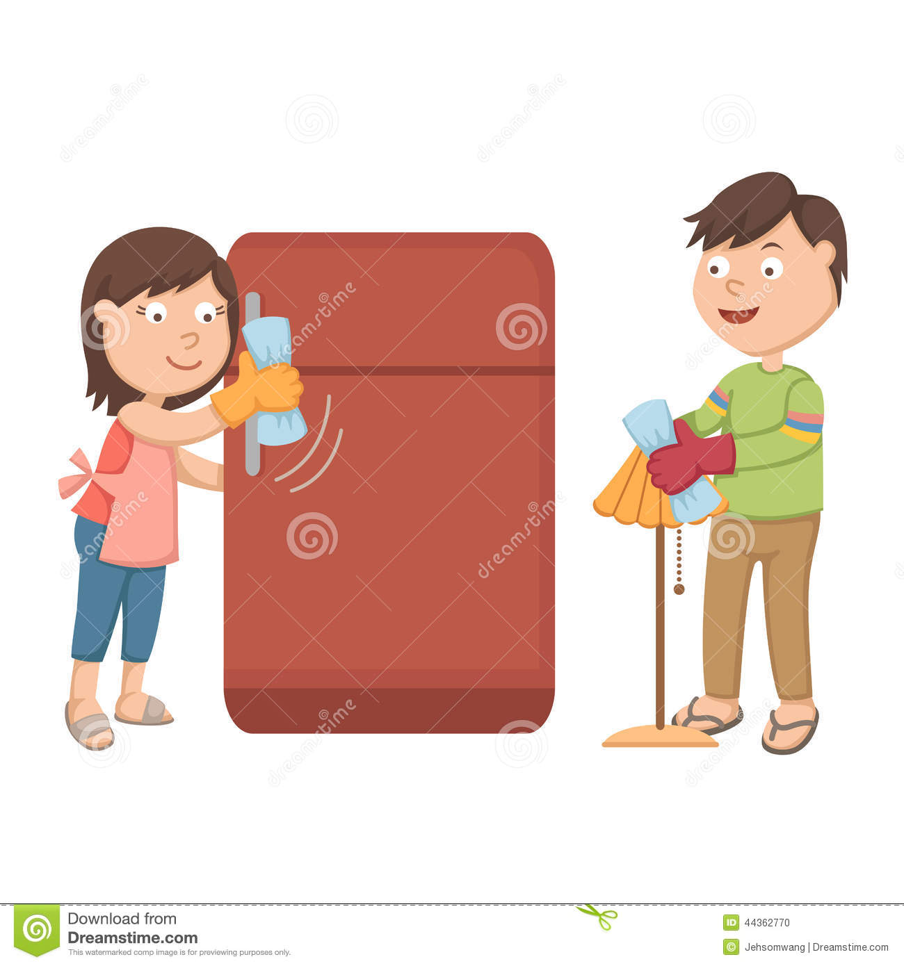 cleaning fridge clipart - photo #33