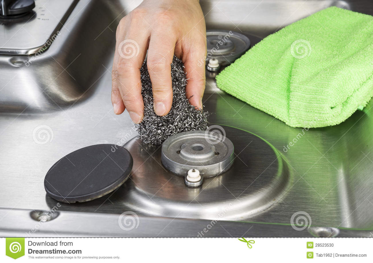gas stove top cleaner