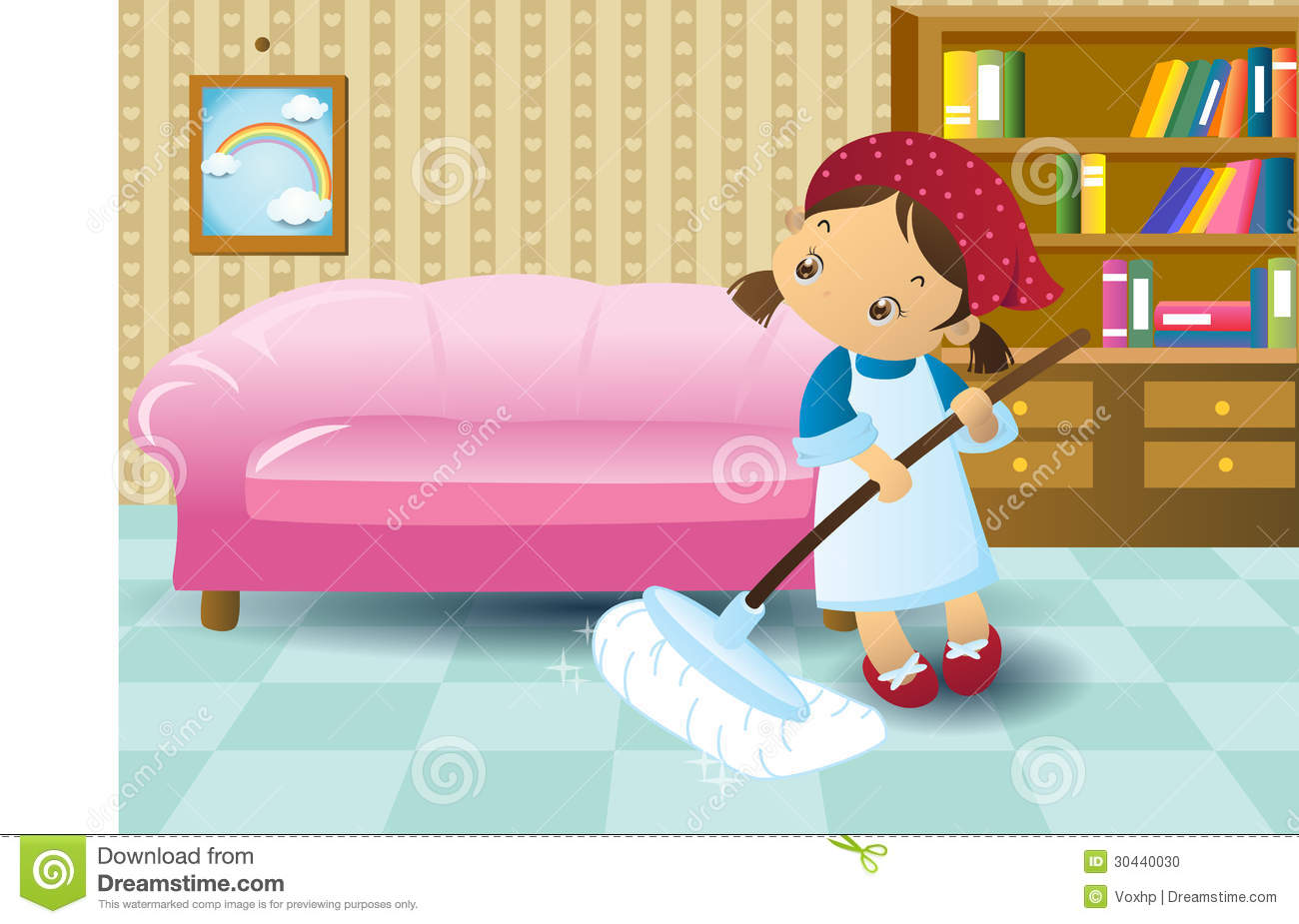 Cleaning Girl Stock Photo Image 30440030