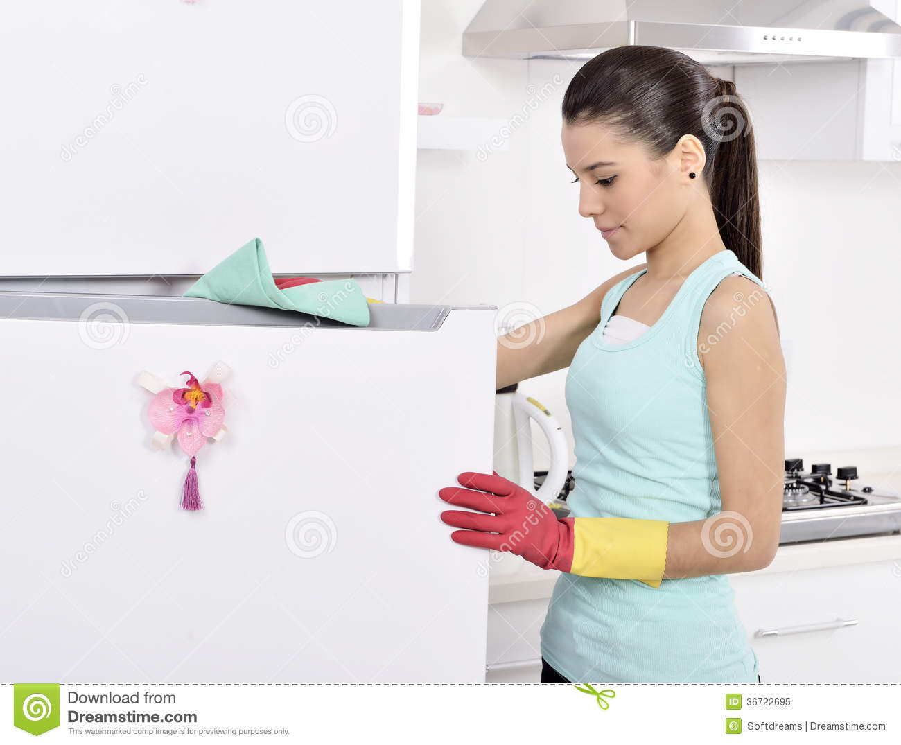 Cleaning the house stock image image of casual for House cleaning stock photos