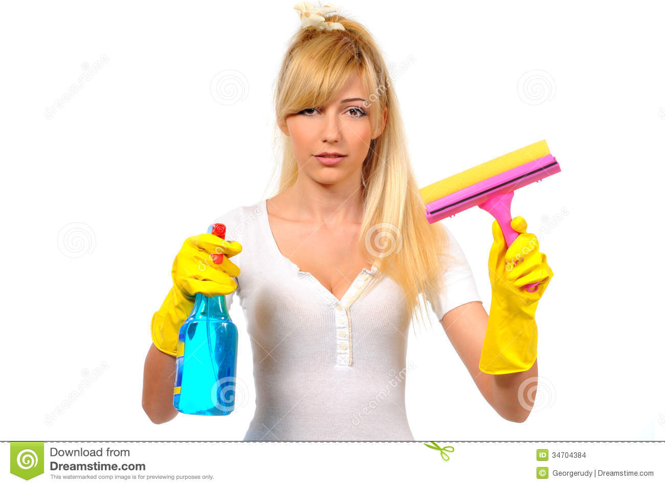 Cleaning Stock Photo. Image Of Life, Dust, Cheerful, Adult