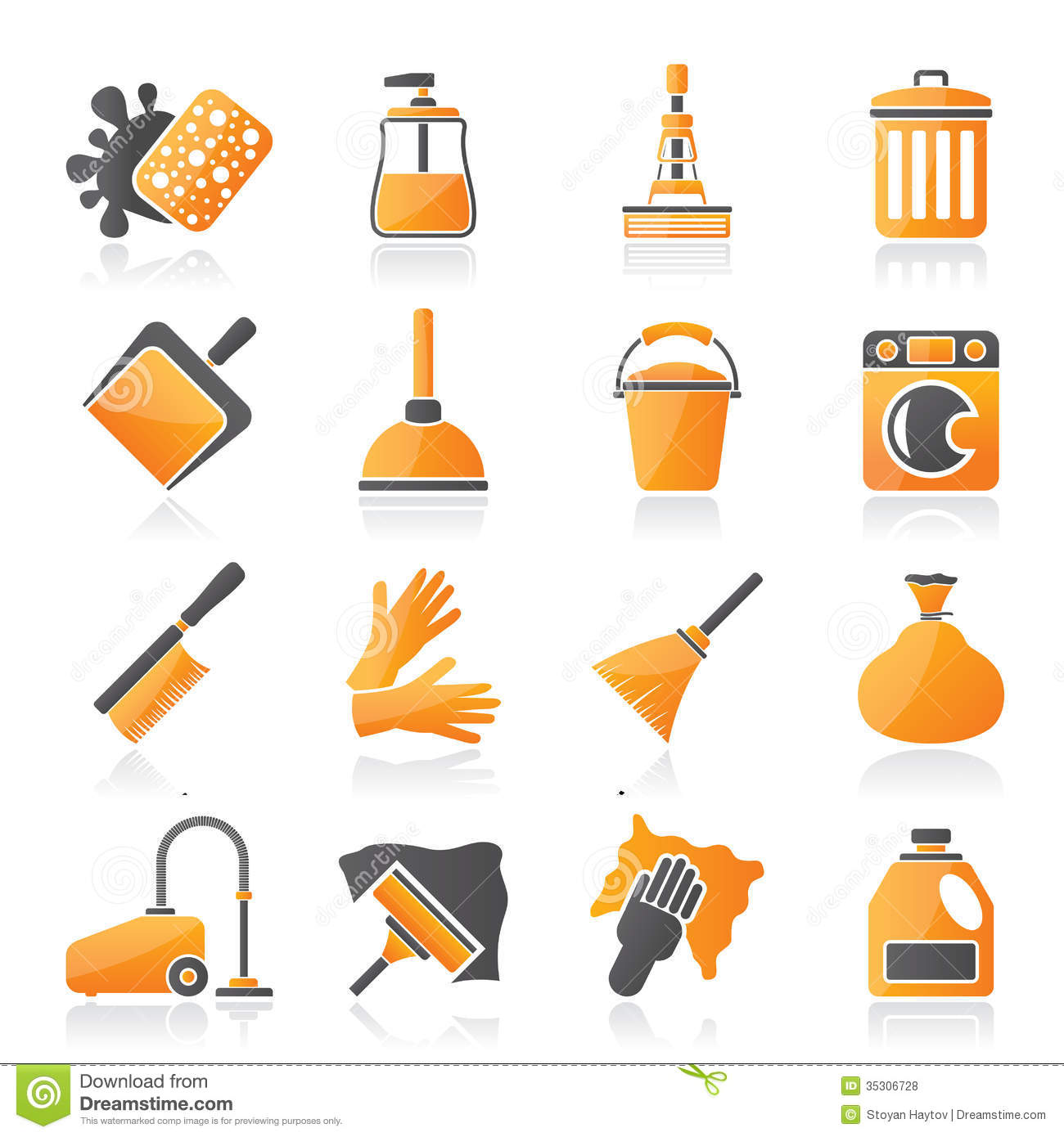 Cleaning And Hygiene Icons Royalty Free Stock s