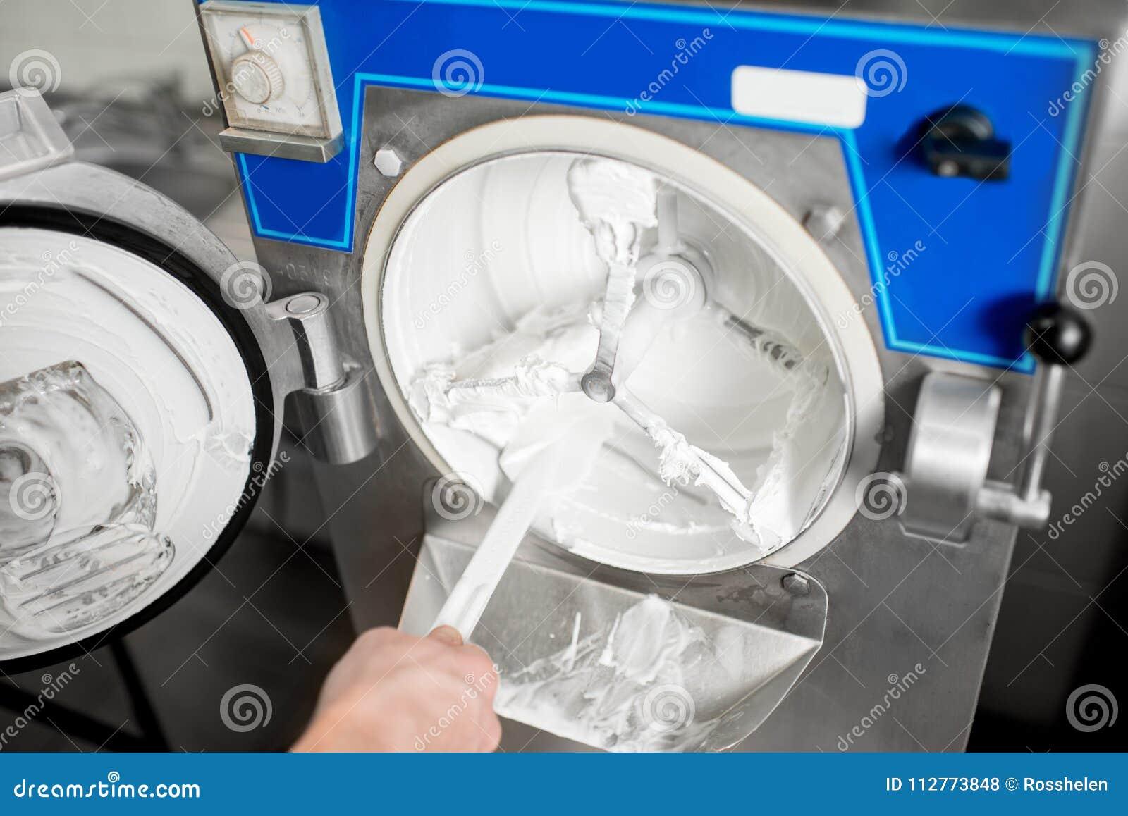 Cleaning Ice Cream Maker Machine Stock Photo Image Of Closeup Technology 112773848