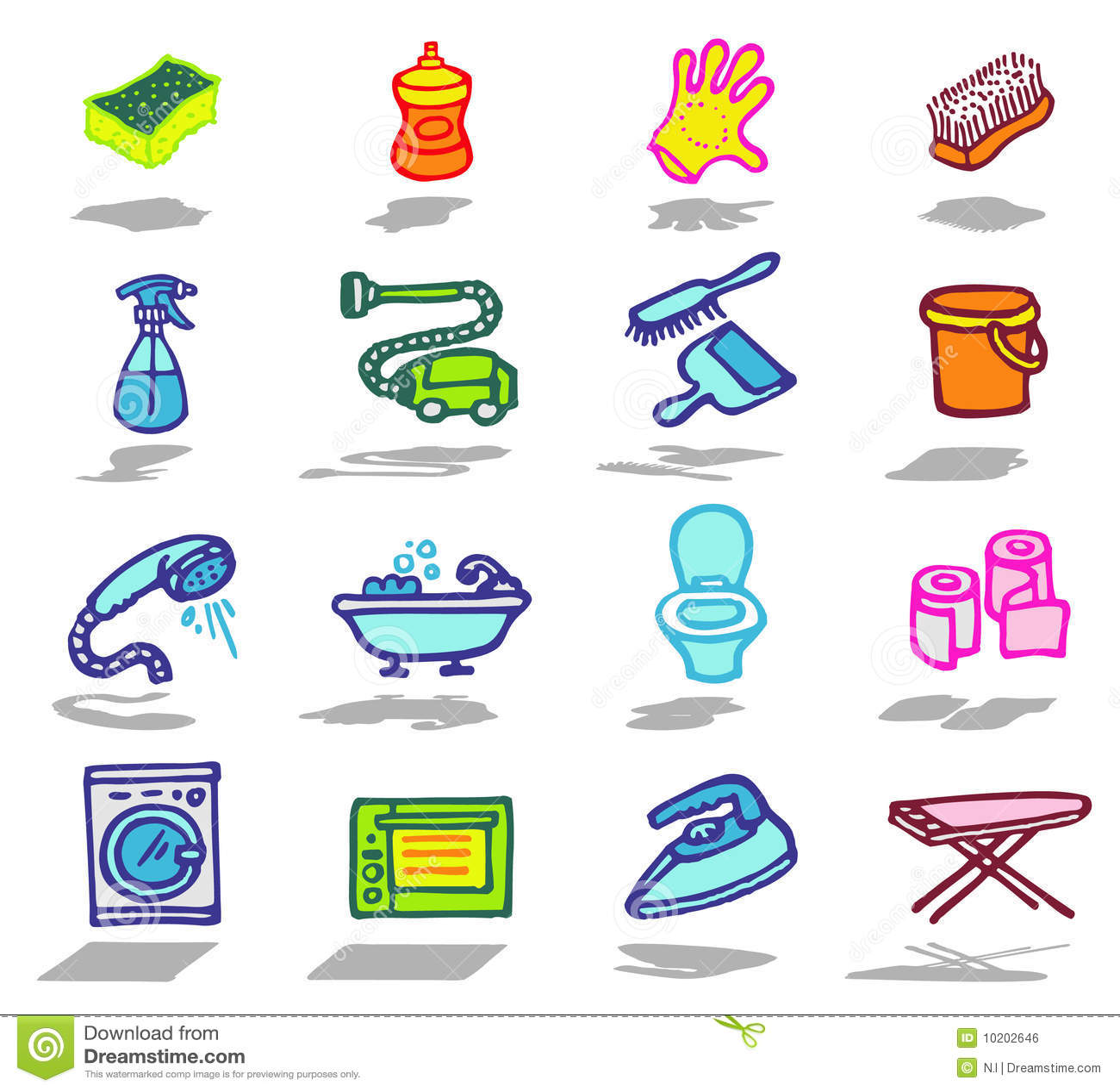 Cleaning Icons Set Royalty Free Stock Image Image 10202646