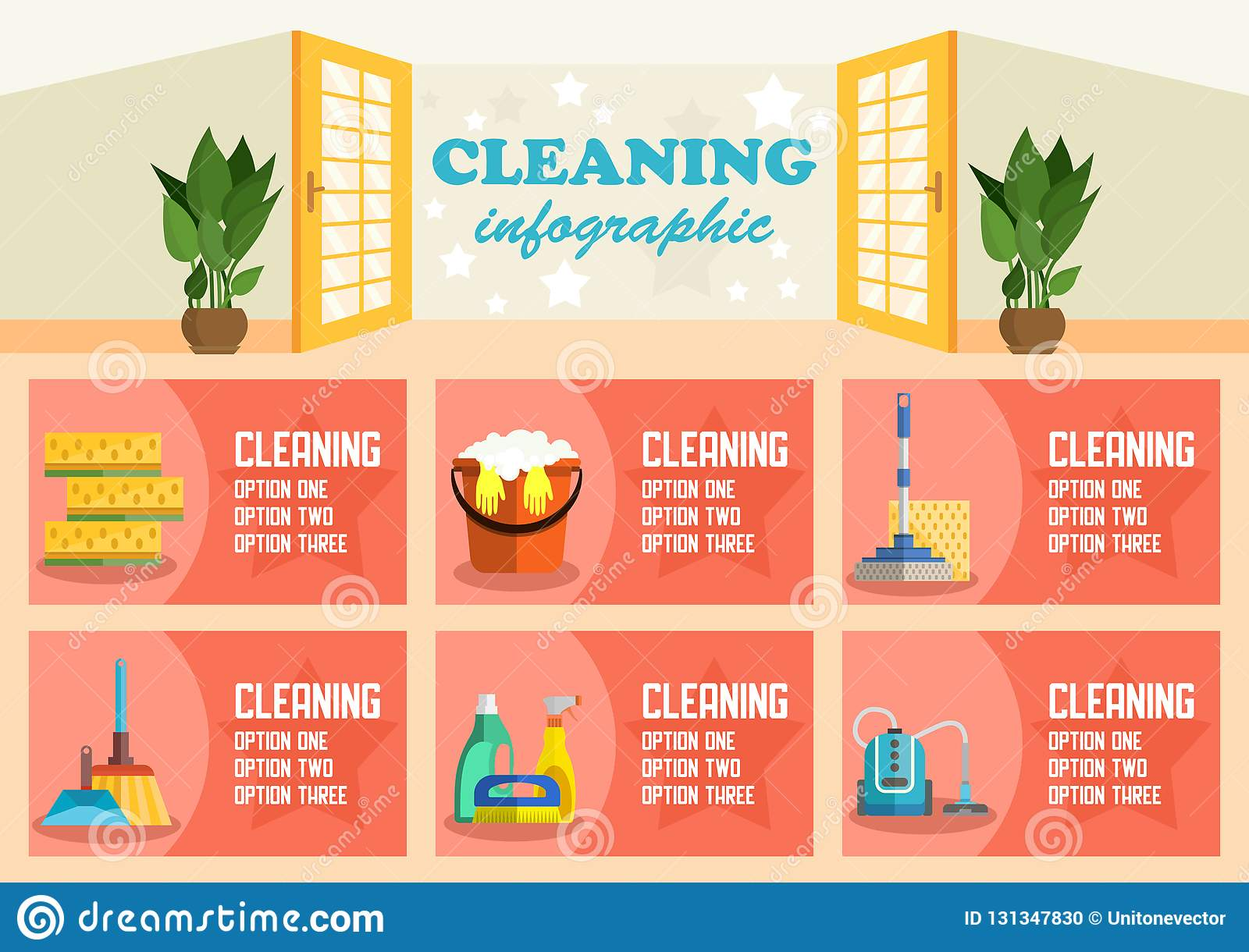 cleaning-infographic-dry-options-concept