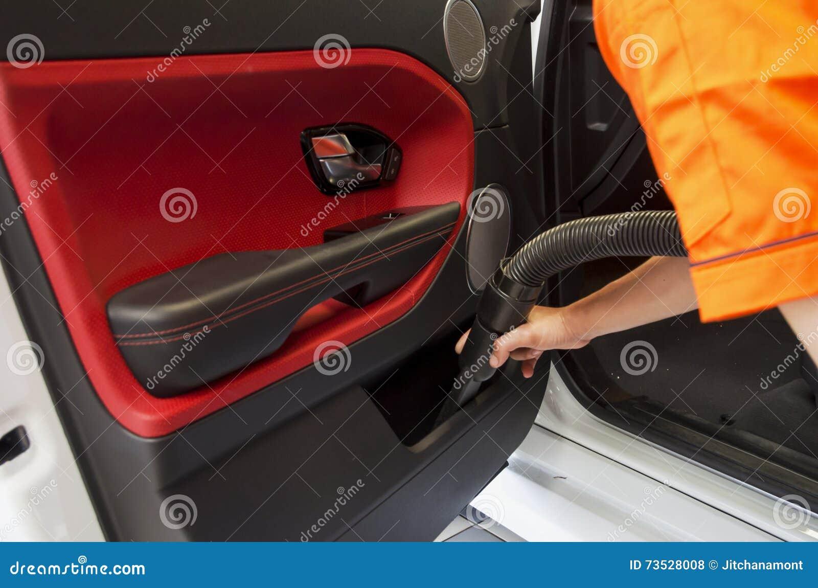 Professional car vacuum cleaner stock image - Professional car interior cleaning ...