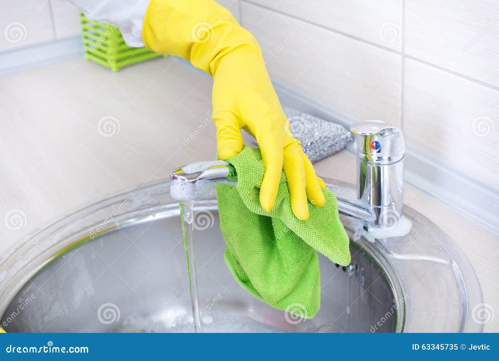 kitchen sink faucet royalty free stock image 91693330. Black Bedroom Furniture Sets. Home Design Ideas