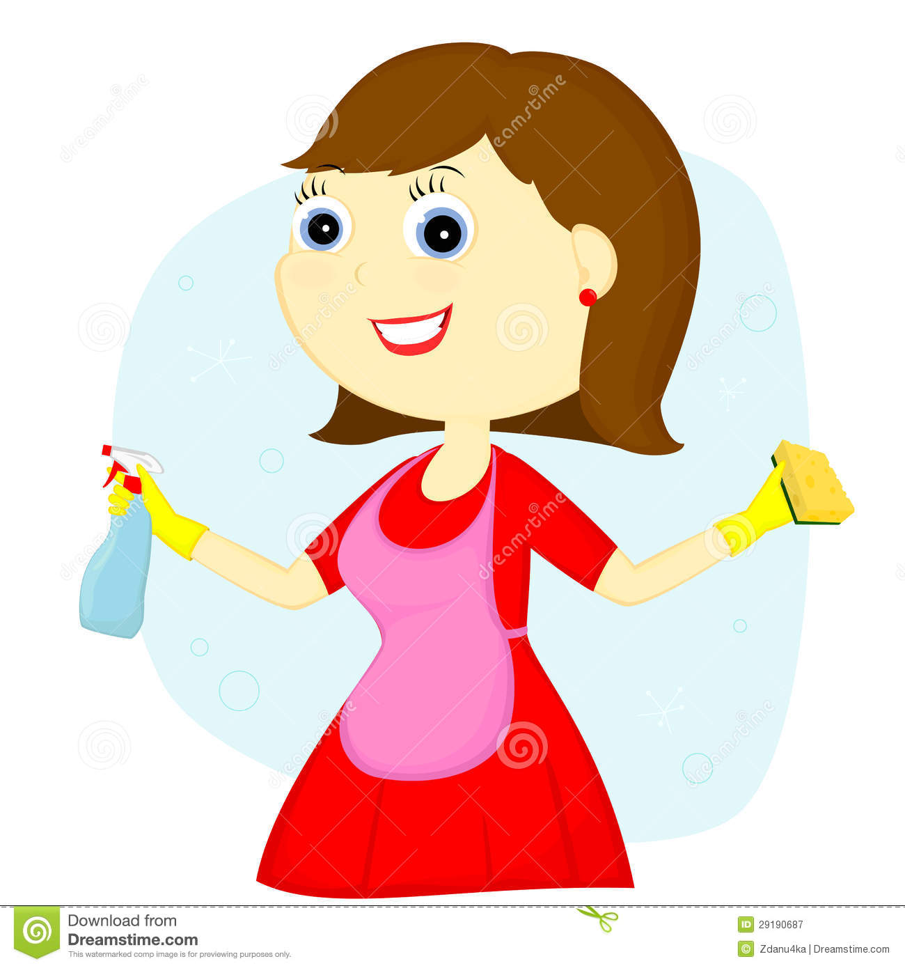 Royalty Free Stock Photography Cleaning Lady Image29190687 on Dusting Cleaning Clip Art Free