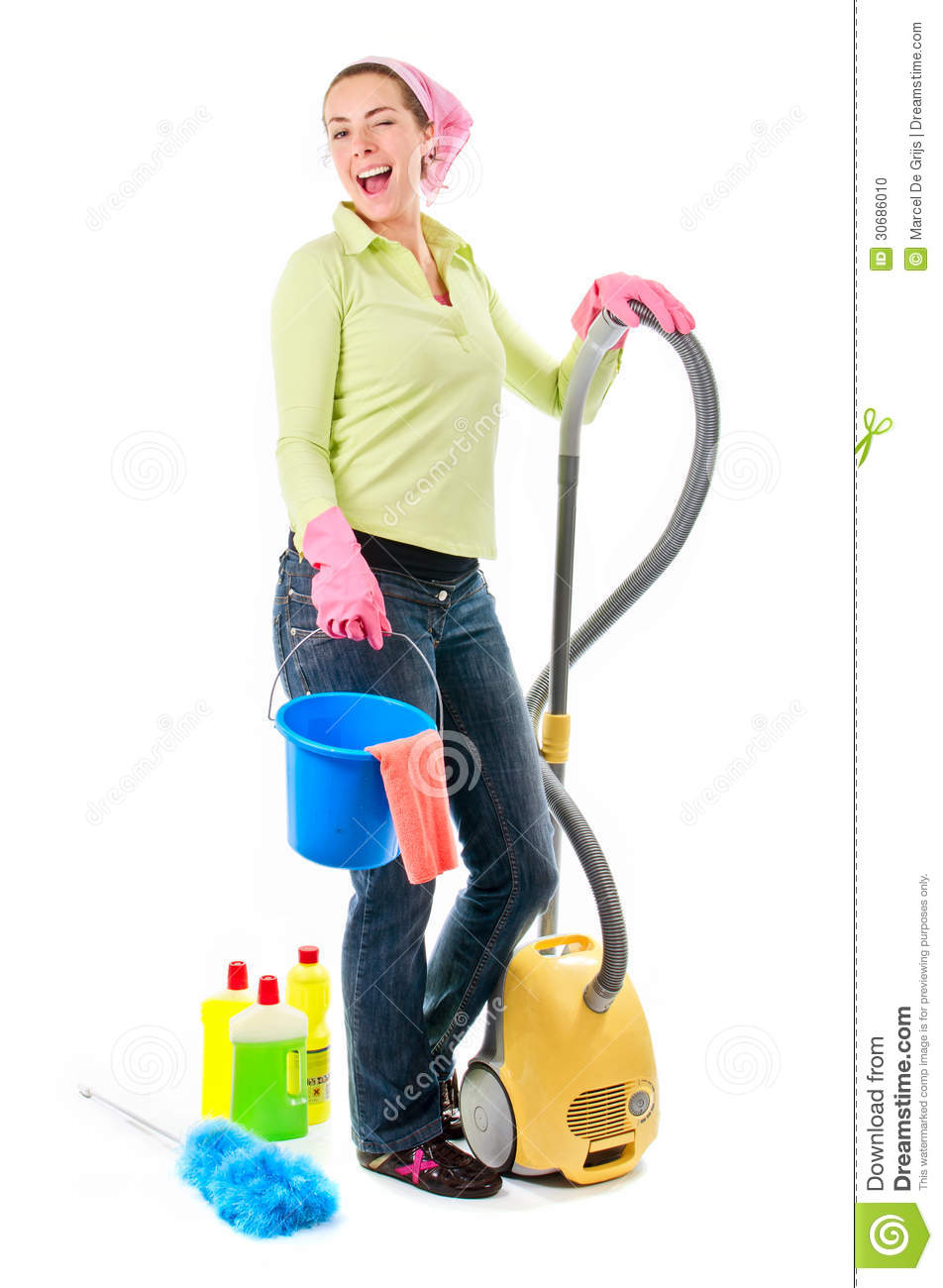 cleaning lady stock photo  image of couple  house  gloves