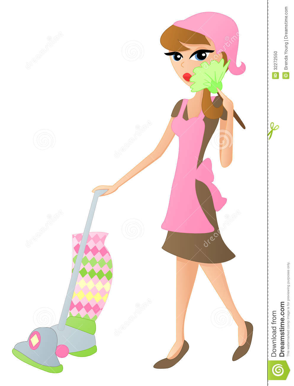 Cleaning Lady Stock Photo Image 32272550
