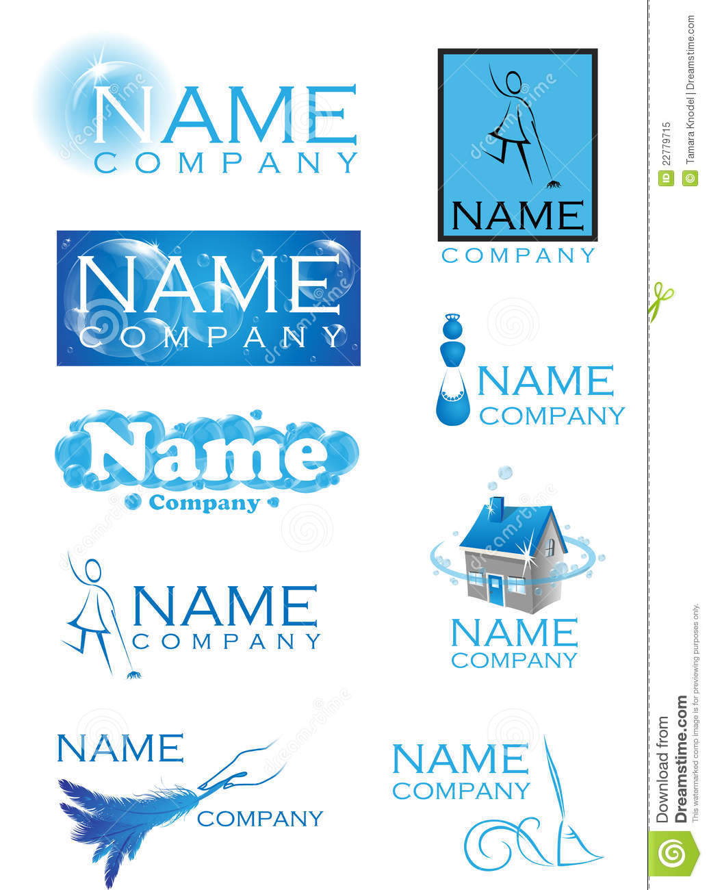 Cleaning Logos Royalty Free Stock Photo Image 22779715